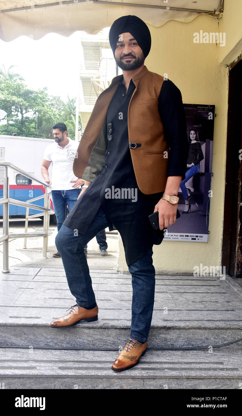 Mumbai, India. 11th June, 2018. Former hockey player Sandeep Singh pose during trailer launch upcoming film Soorma, the film is his Biopic in Mumbai. Credit: Azhar Khan/SOPA Images/ZUMA Wire/Alamy Live News - Stock Image
