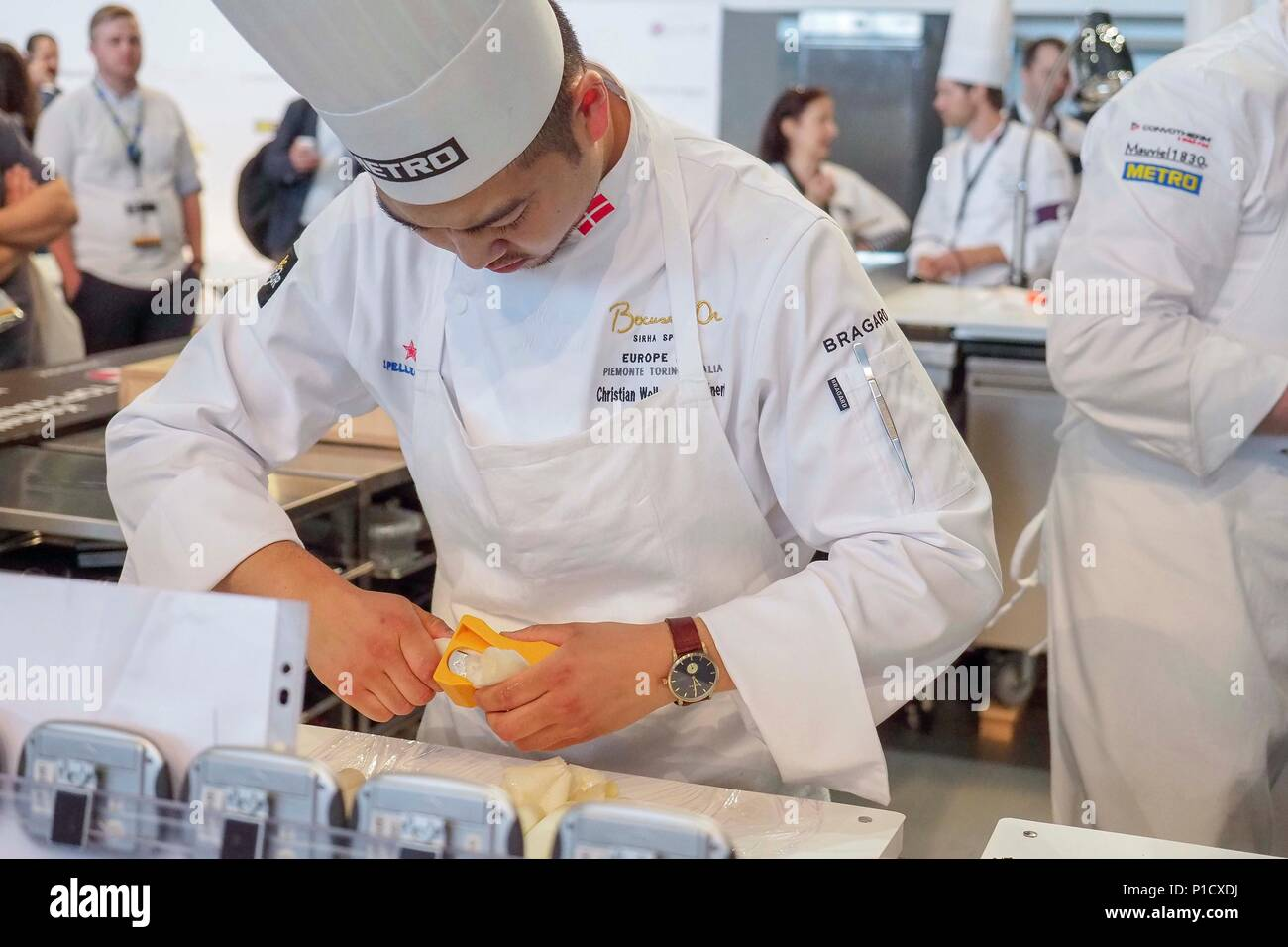 Turin, Italy. 12th June, 2018. Torino.Semifinali Bocuse d'Or Europa 2018. in the picture: Christian Wellendorf Kleinert Credit: Independent Photo Agency/Alamy Live News - Stock Image