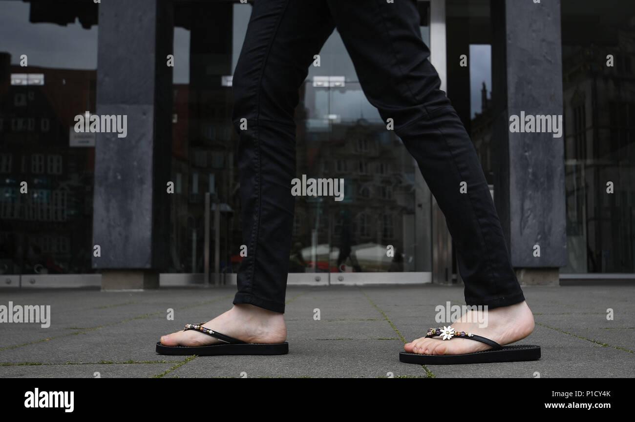 93b0567a5 Woman Wearing Flip Flops Stock Photos   Woman Wearing Flip Flops ...