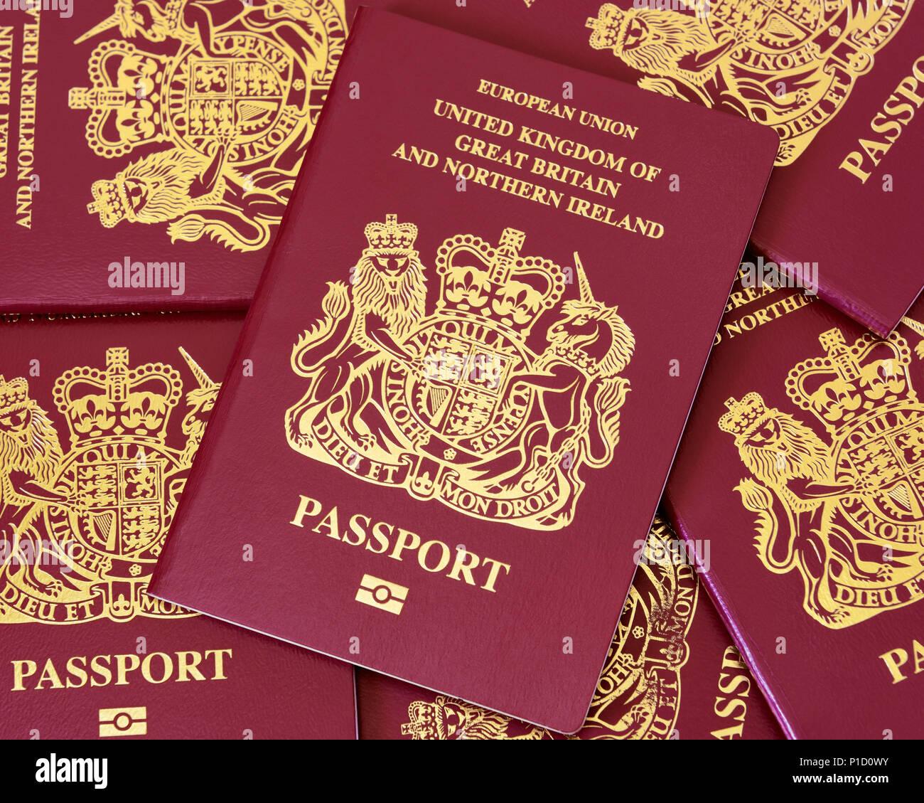 British Passport - Stock Image