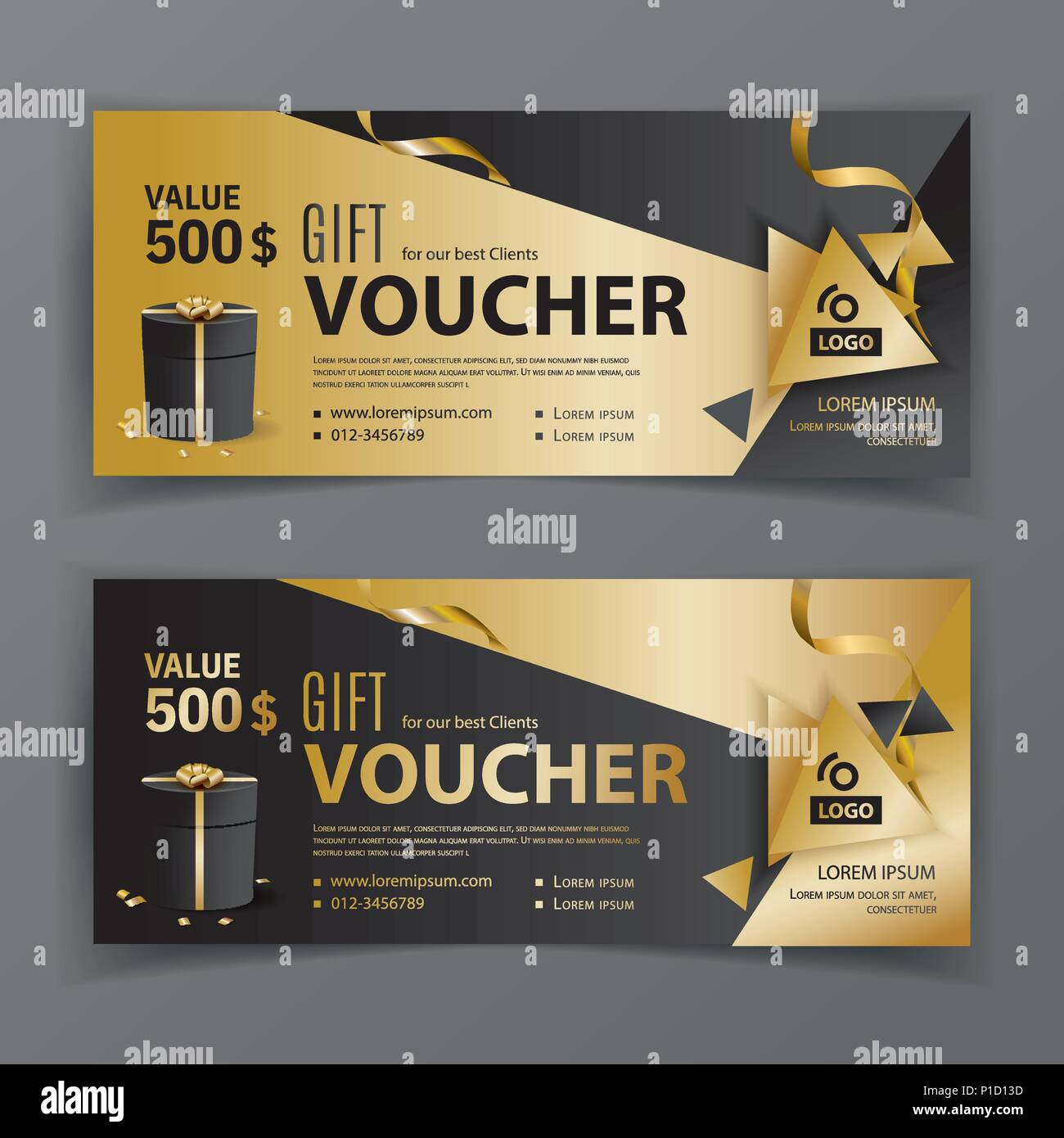 vector gift voucher template universal flyer for business luxury