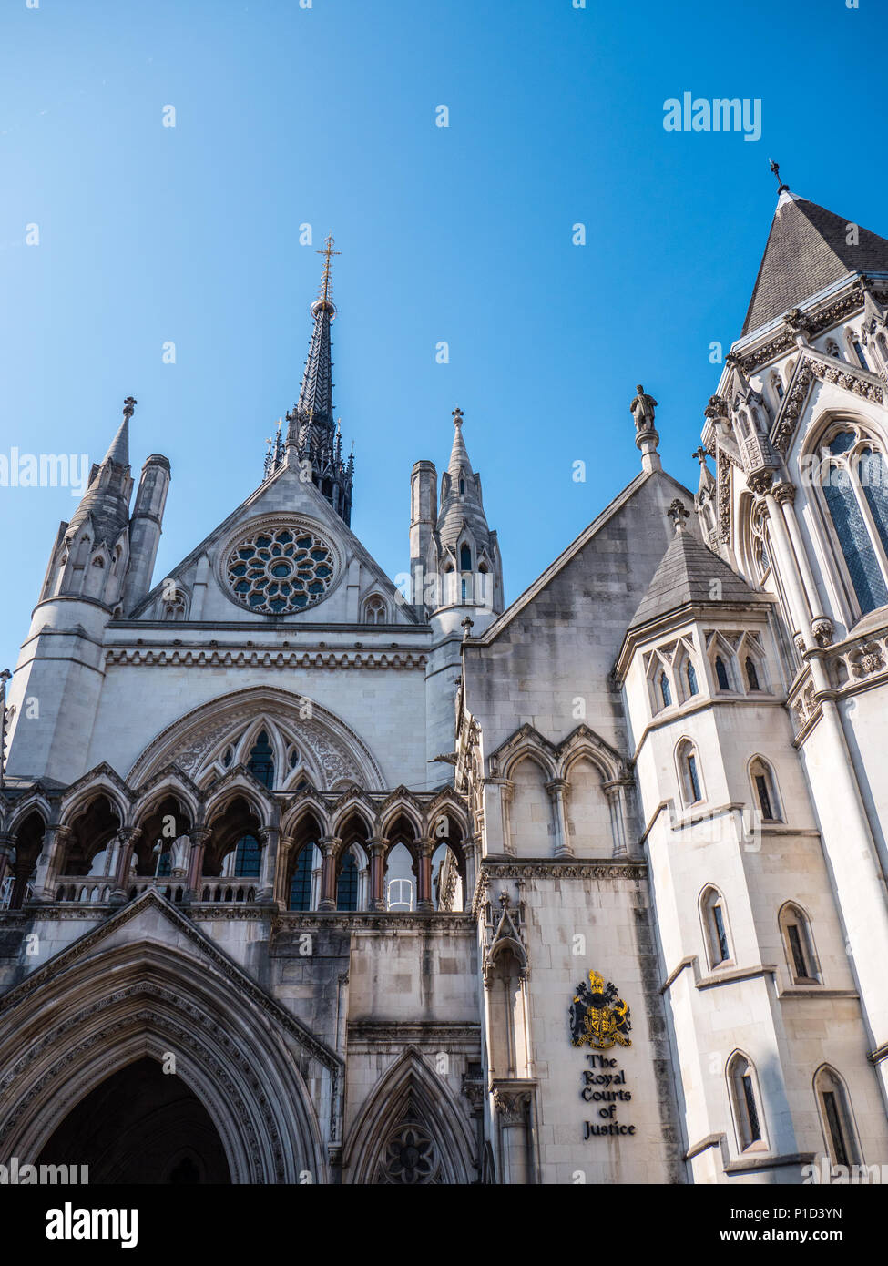 The High Court, Royal Courts Of Justice, London, England, UK, GB. - Stock Image