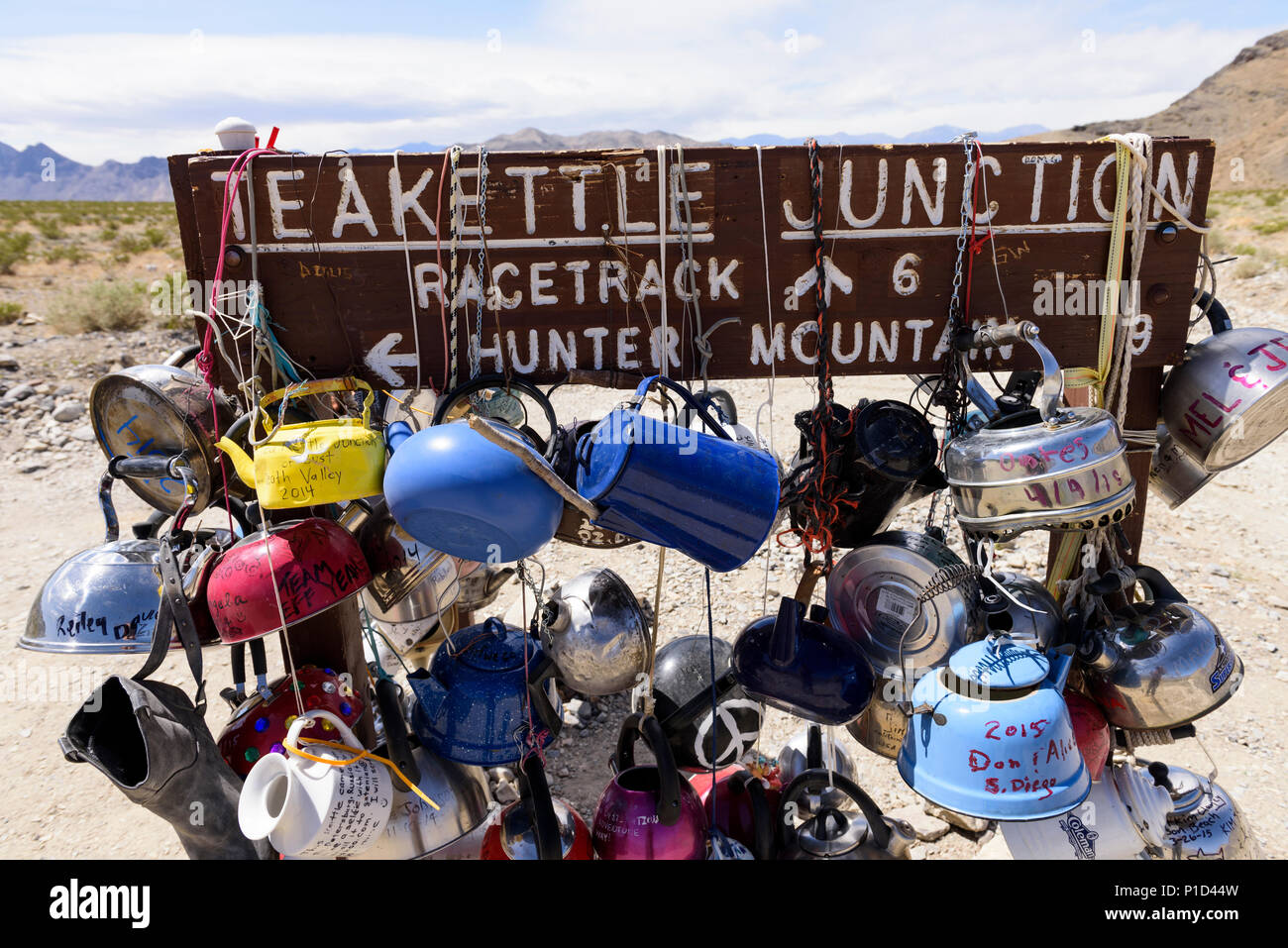 Teakettle junction in Death Valley National Park in California, North America. - Stock Image