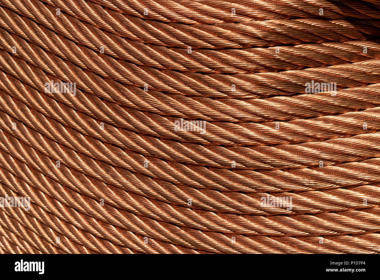 Coils of copper in New York on Thursday, May 24, 2018. (© Richard B. Levine) - Stock Image