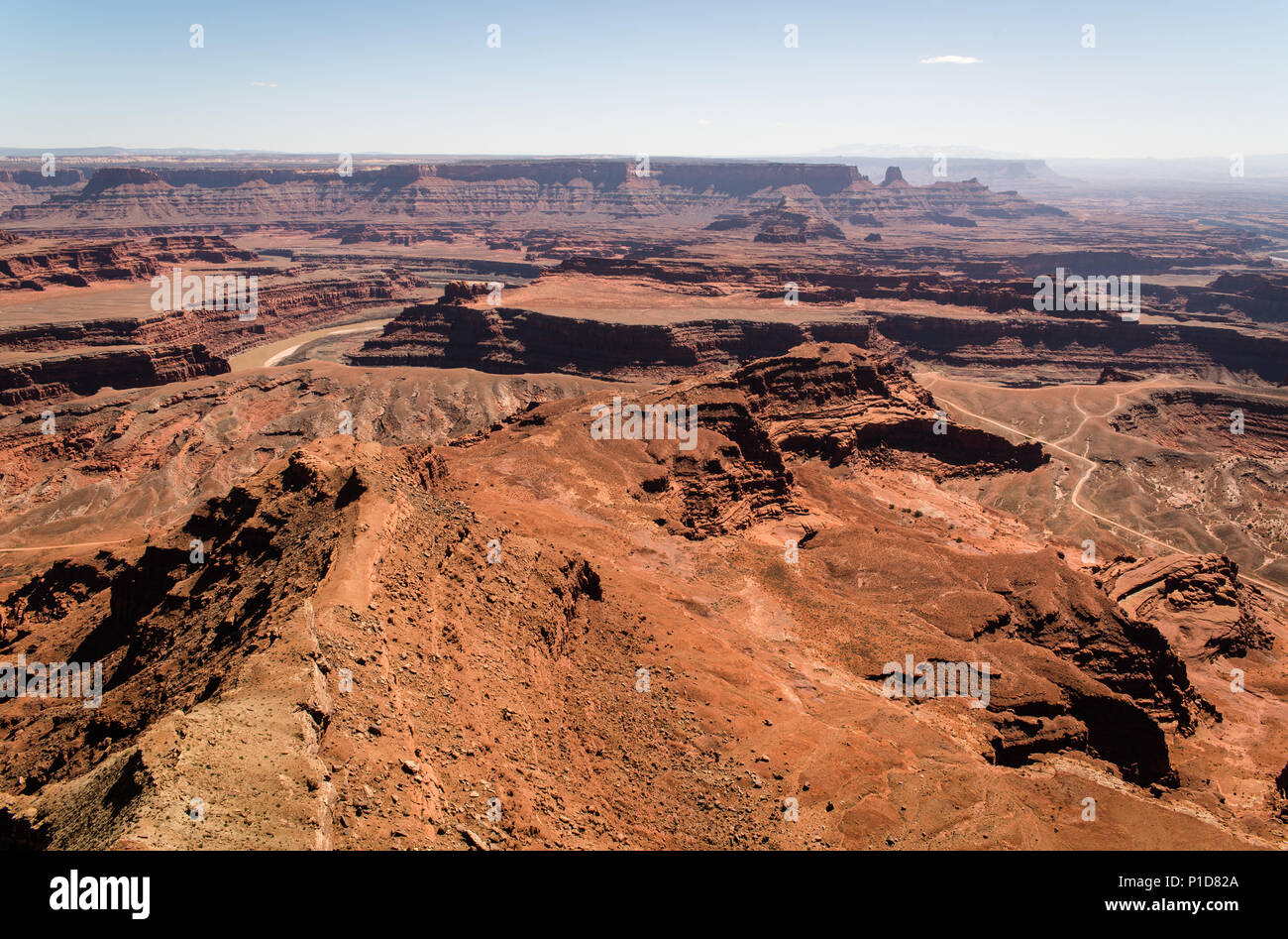 A scenic landscape view at Canyonlands National Park. - Stock Image