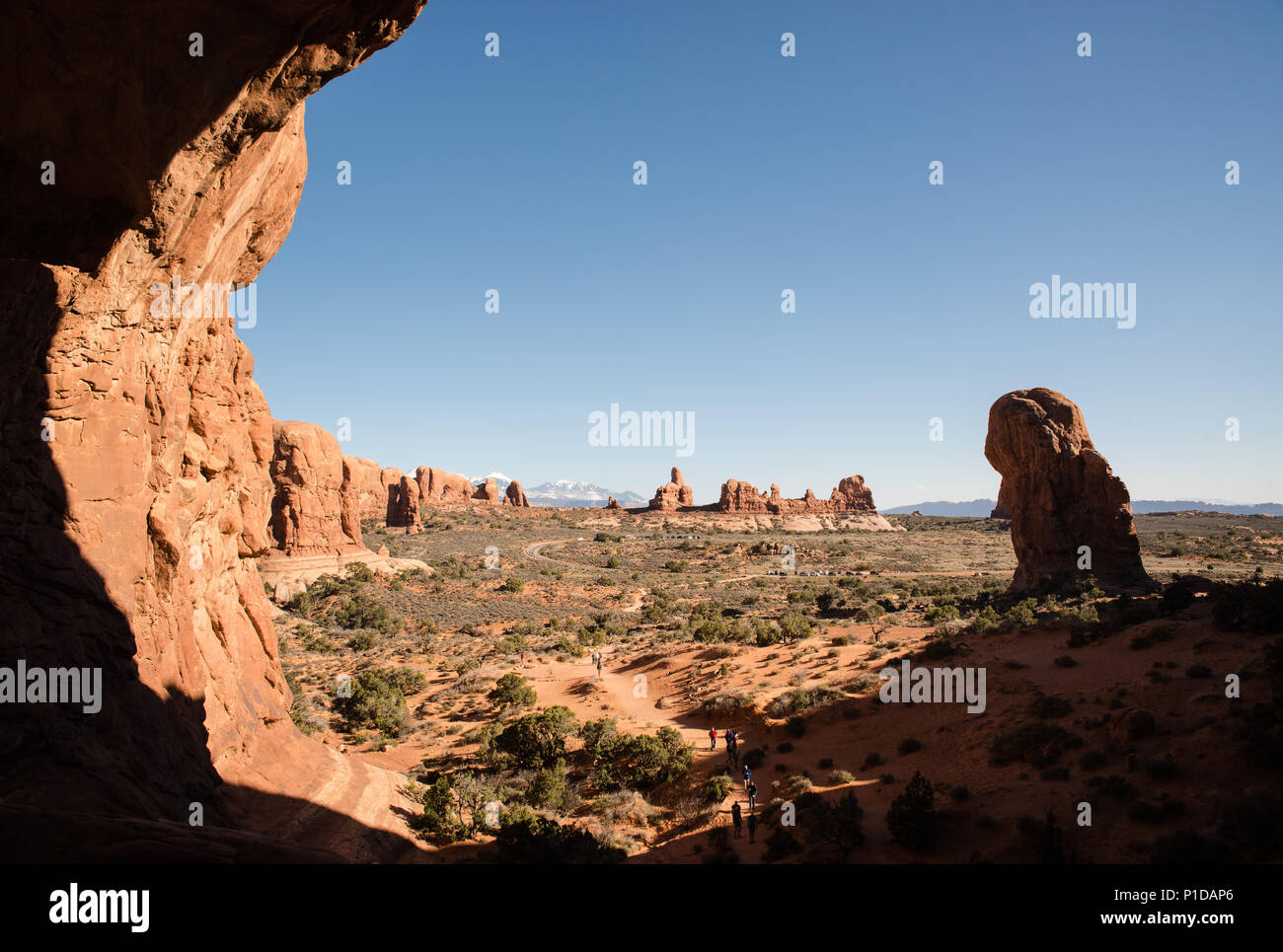 Scenic landscape view at Arches National Park, Utah. - Stock Image
