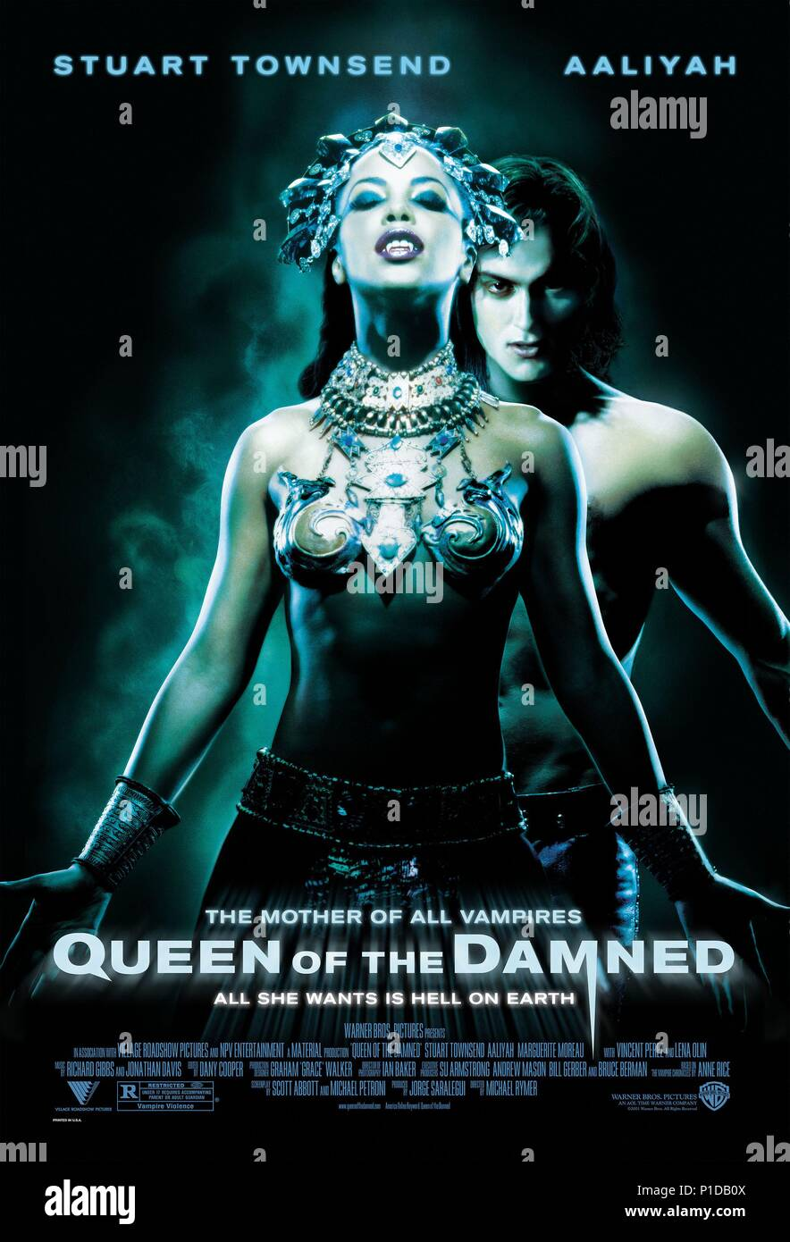 Original Film Title: QUEEN OF THE DAMNED.  English Title: QUEEN OF THE DAMNED.  Film Director: MICHAEL RYMER.  Year: 2002. Credit: WARNER BROS. PICTURES / Album - Stock Image