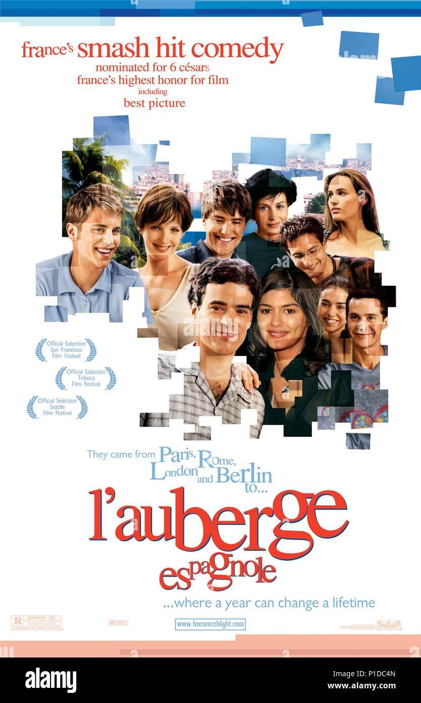 Original Film Title: L' AUBERGE ESPAGNOLE.  English Title: EURO PUDDING.  Film Director: CEDRIC KLAPISCH.  Year: 2002. Credit: CE QUI ME MEUT/MATE PRODUCTION/CASTELAO PRODUCTIONS / Album - Stock Image