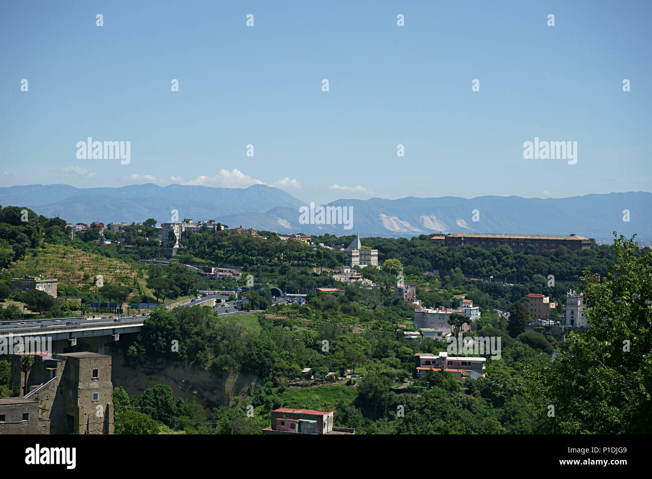 Landscape of Capodimonte an camaldoli City of Naples, Italy - Stock Image