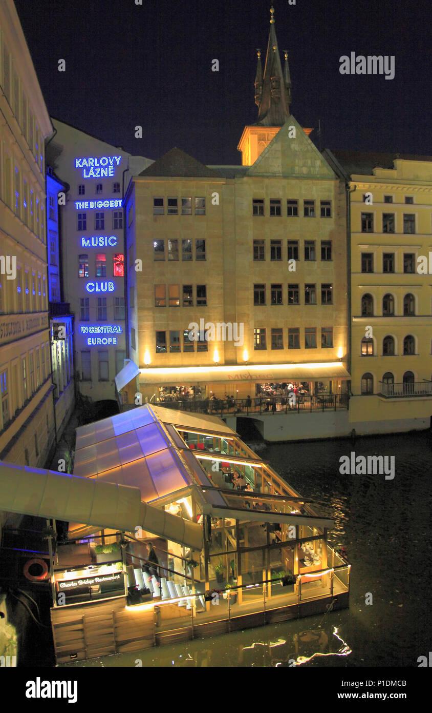 Czech Republic, Prague, Karlovy Lazne, music club, nightlife, - Stock Image