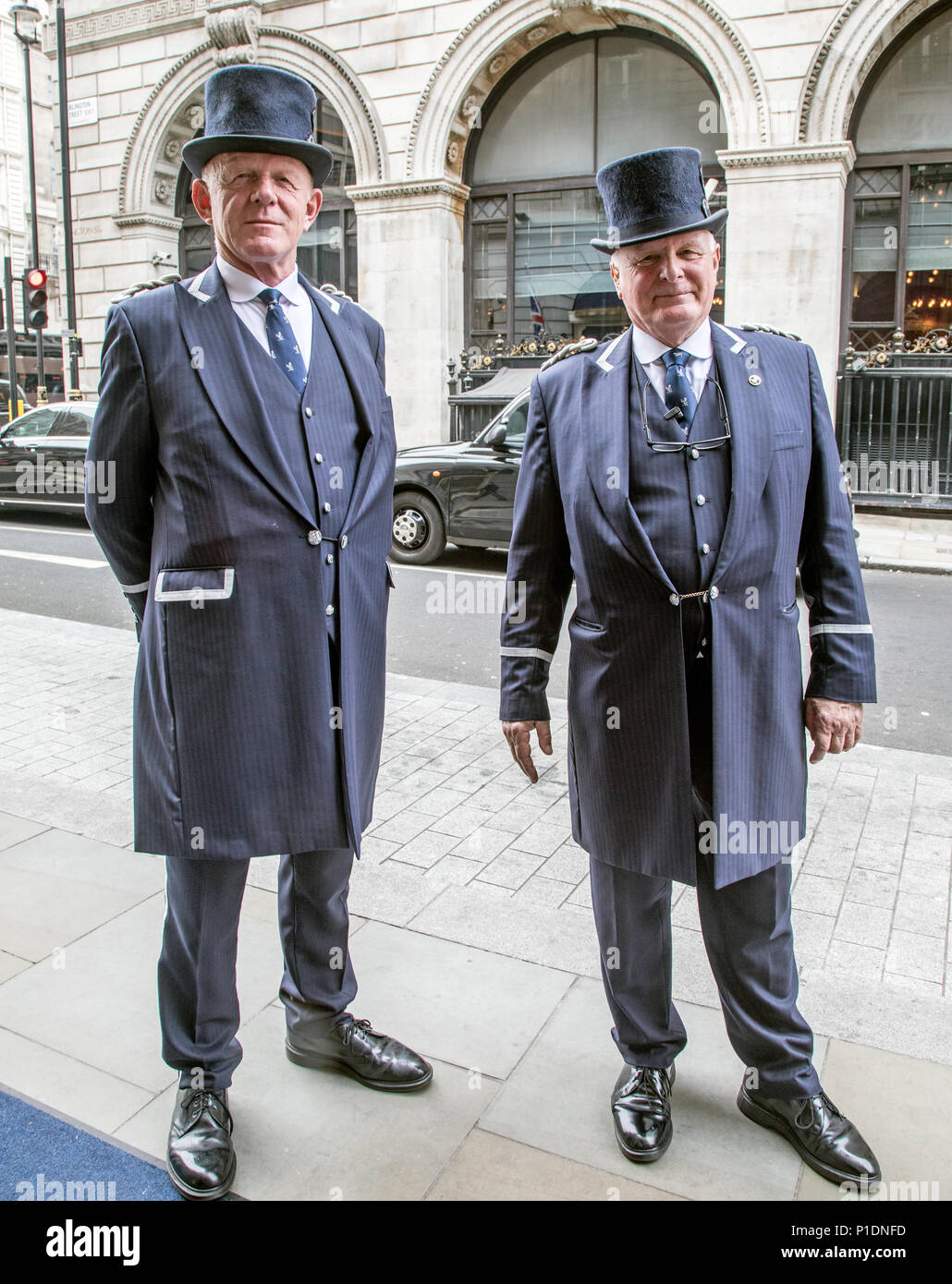 Doormen Outside the Ritz London UK - Stock Image