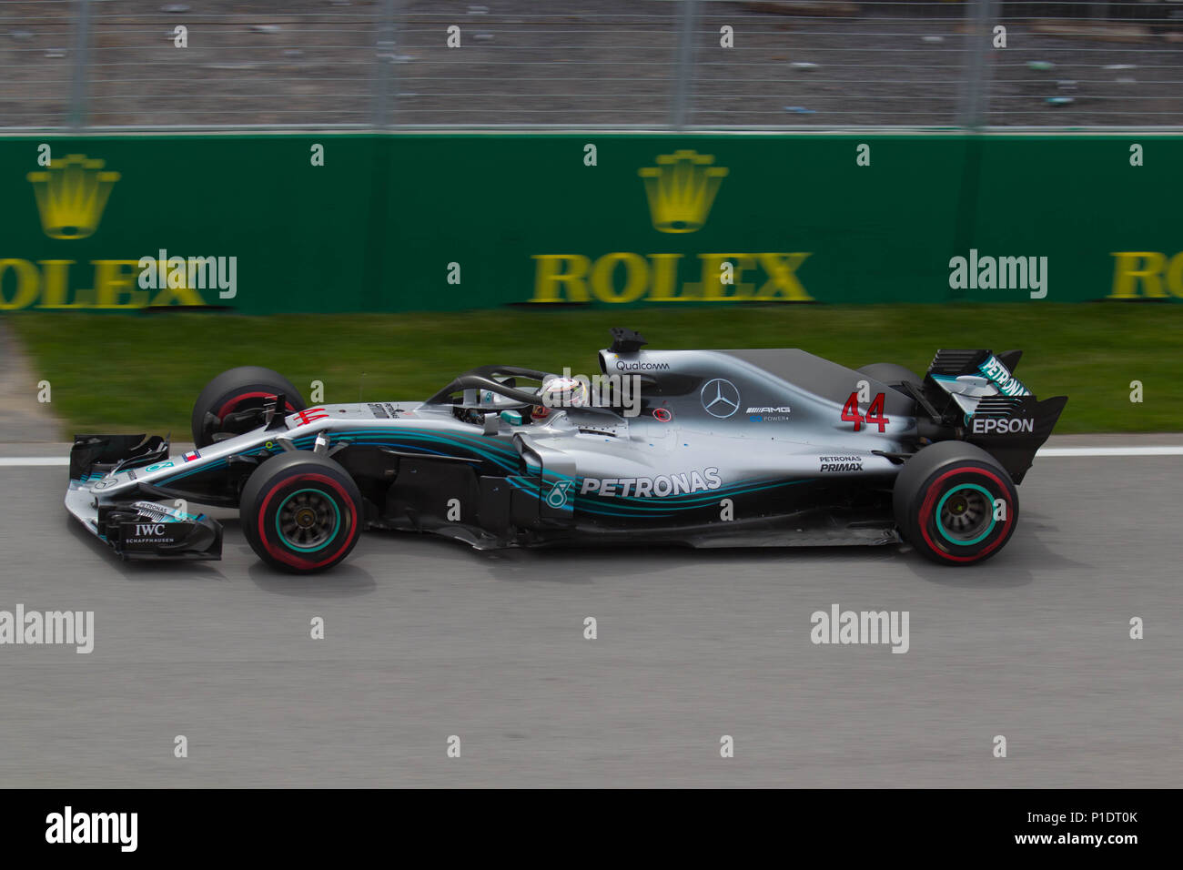 Mercedes AMG EQ W09 2018 F1 car Stock Photo