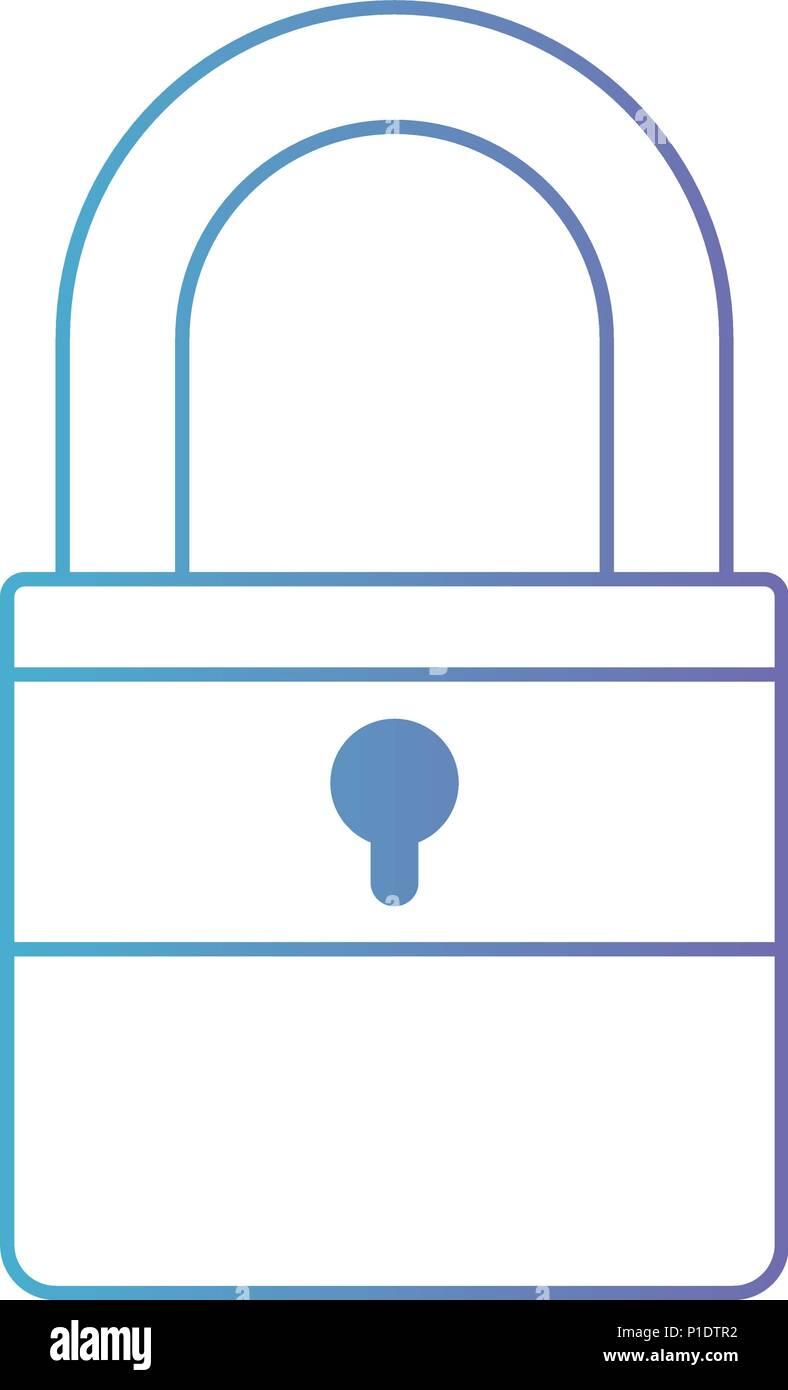 isometric padlock isolated icon - Stock Vector