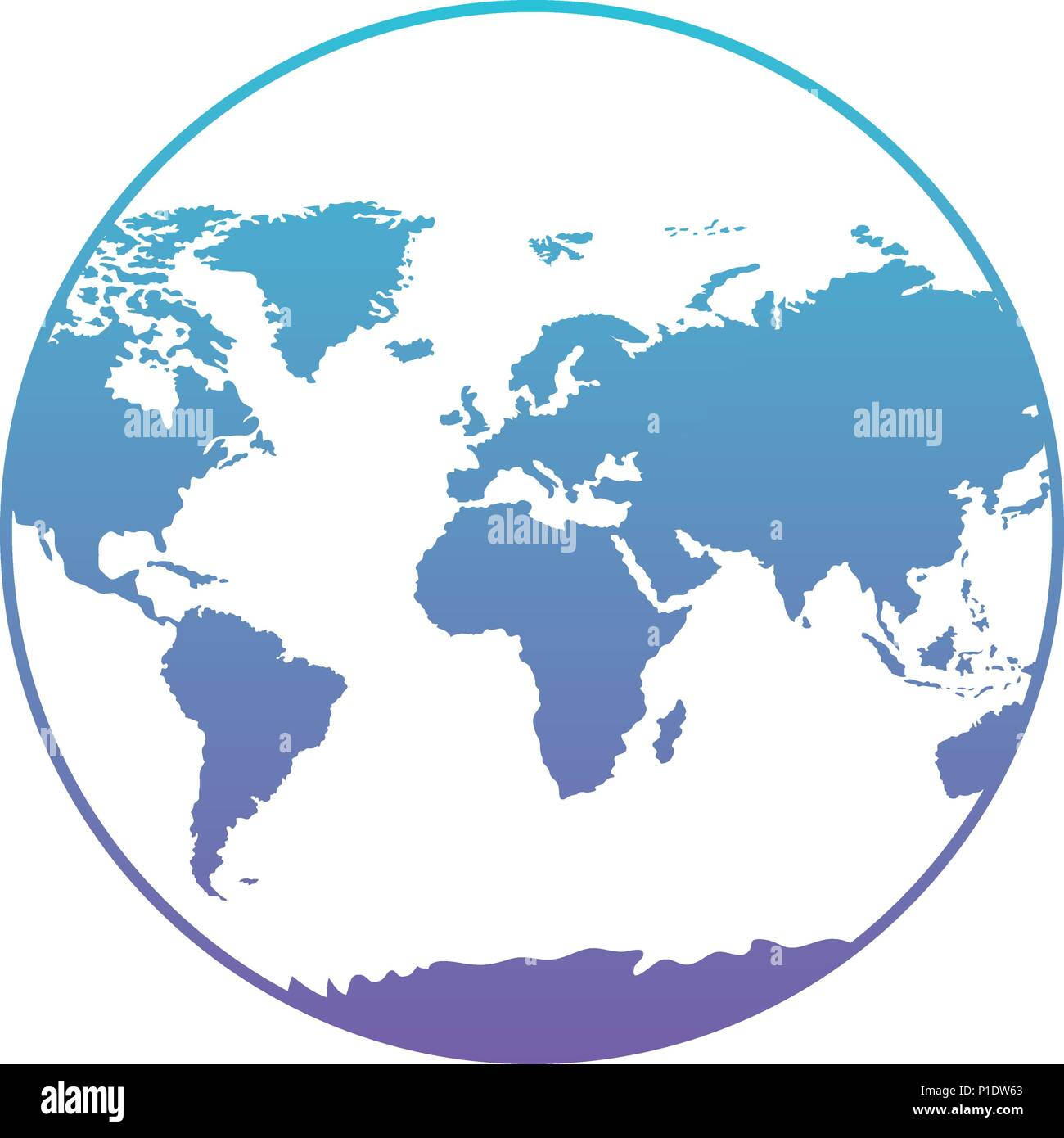world planet earth icon - Stock Vector