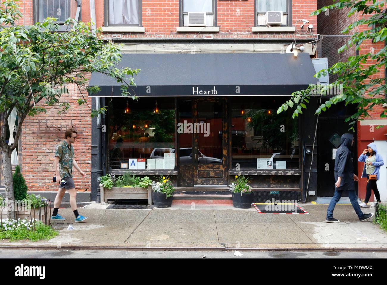 Hearth, 403 E 12th St, New York, NY - Stock Image