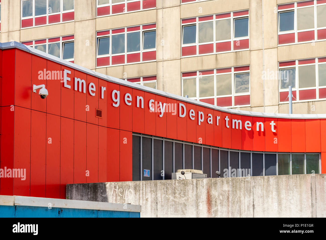 Emergency Department (ED) part of the General Hospital in Southampton, England, UK - Stock Image