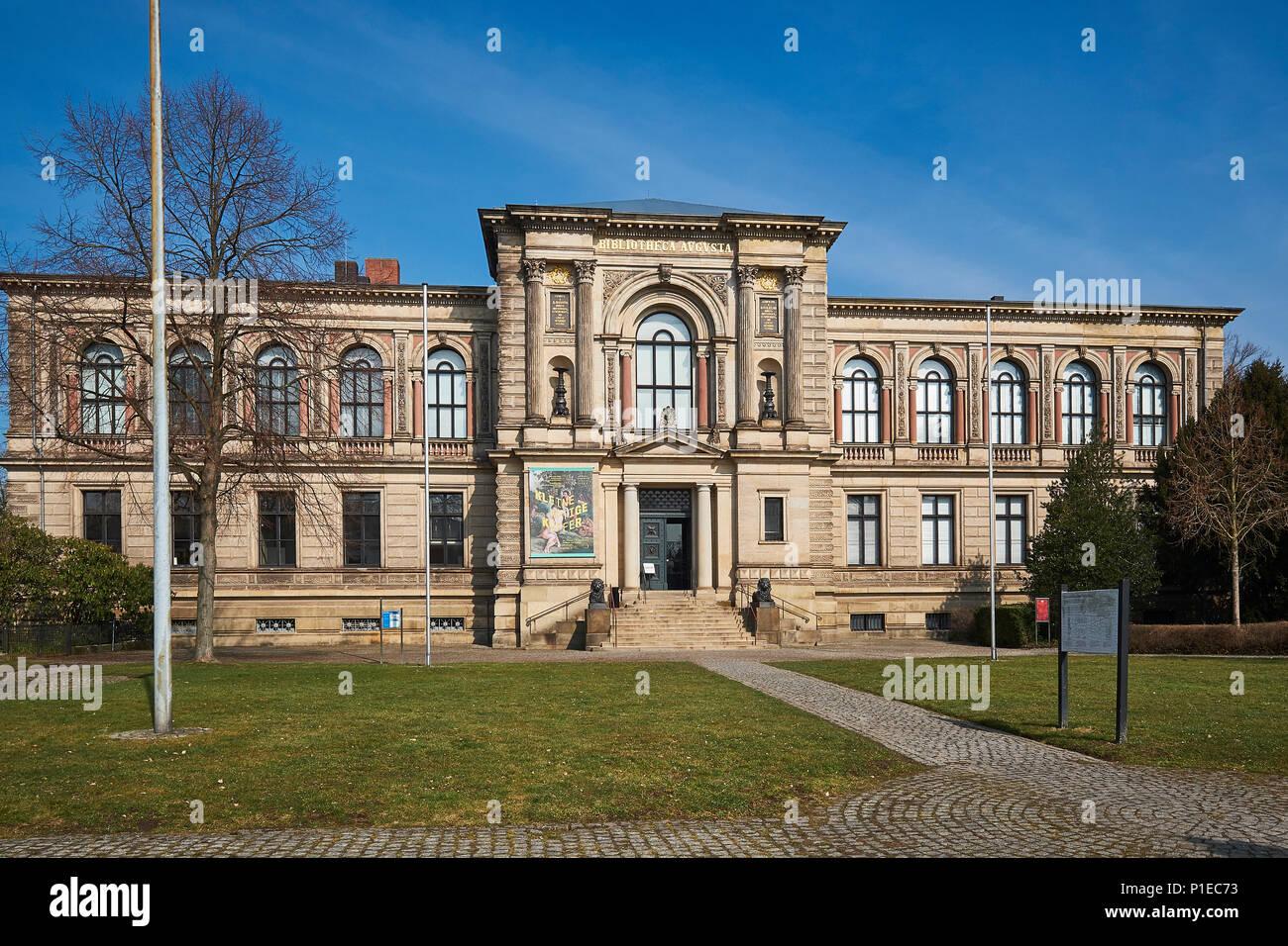 Herzog August Library in Wolfenbüttel, Lower Saxony, Germany Stock Photo