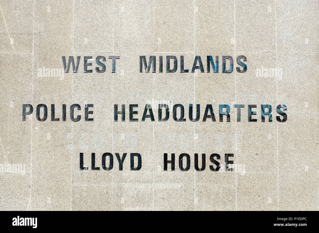 City Police Headquarters Sign Stock Photos & City Police