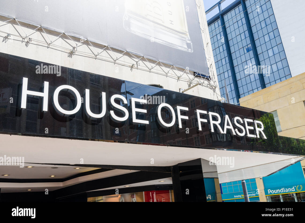 The House of Fraser department store in Corporation Street, Birmingham which has been listed for closure - Stock Image