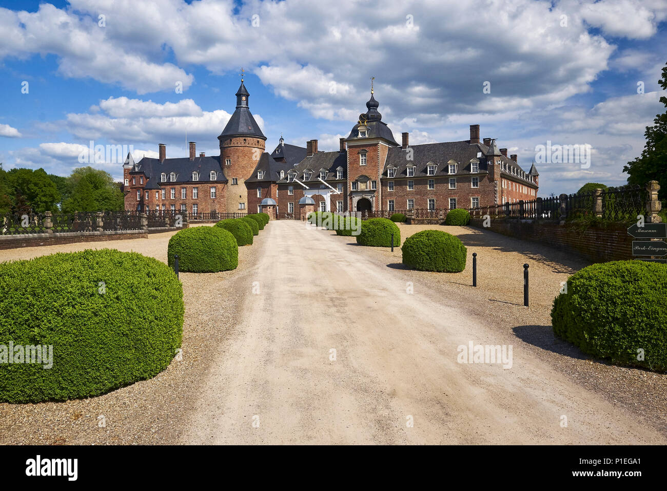 Anholt castle, Borken, North Rhine-Westphalia, Germany - Stock Image