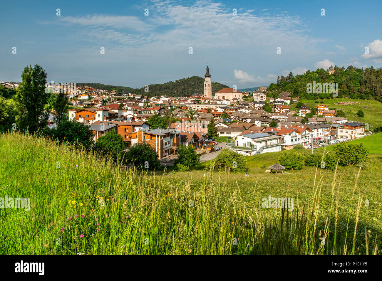Castelrotto - Kastelruth, Trentino Alto Adige - South Tyrol, Italy - Stock Image