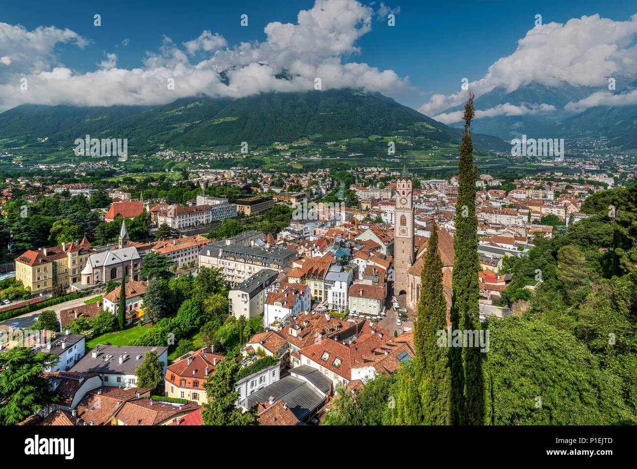 Merano - Meran, Trentino Alto Adige - South Tyrol, Italy - Stock Image