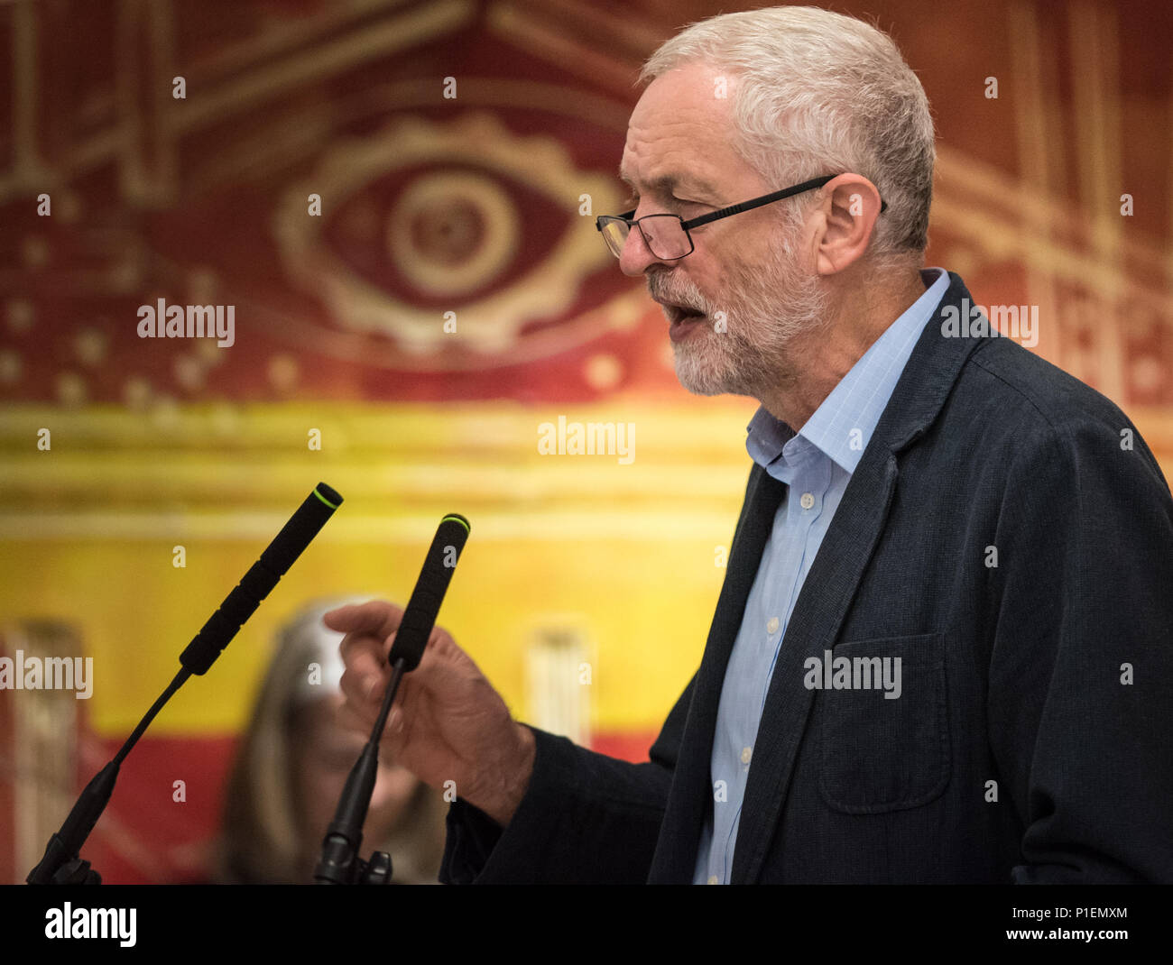 NUT, Hamilton House, Mabledon Place, London, WC1H 9BD, August 1st, 2016. Jeremy Corbyn is officially nominated by the Communication Workers Union (CWU - Stock Image