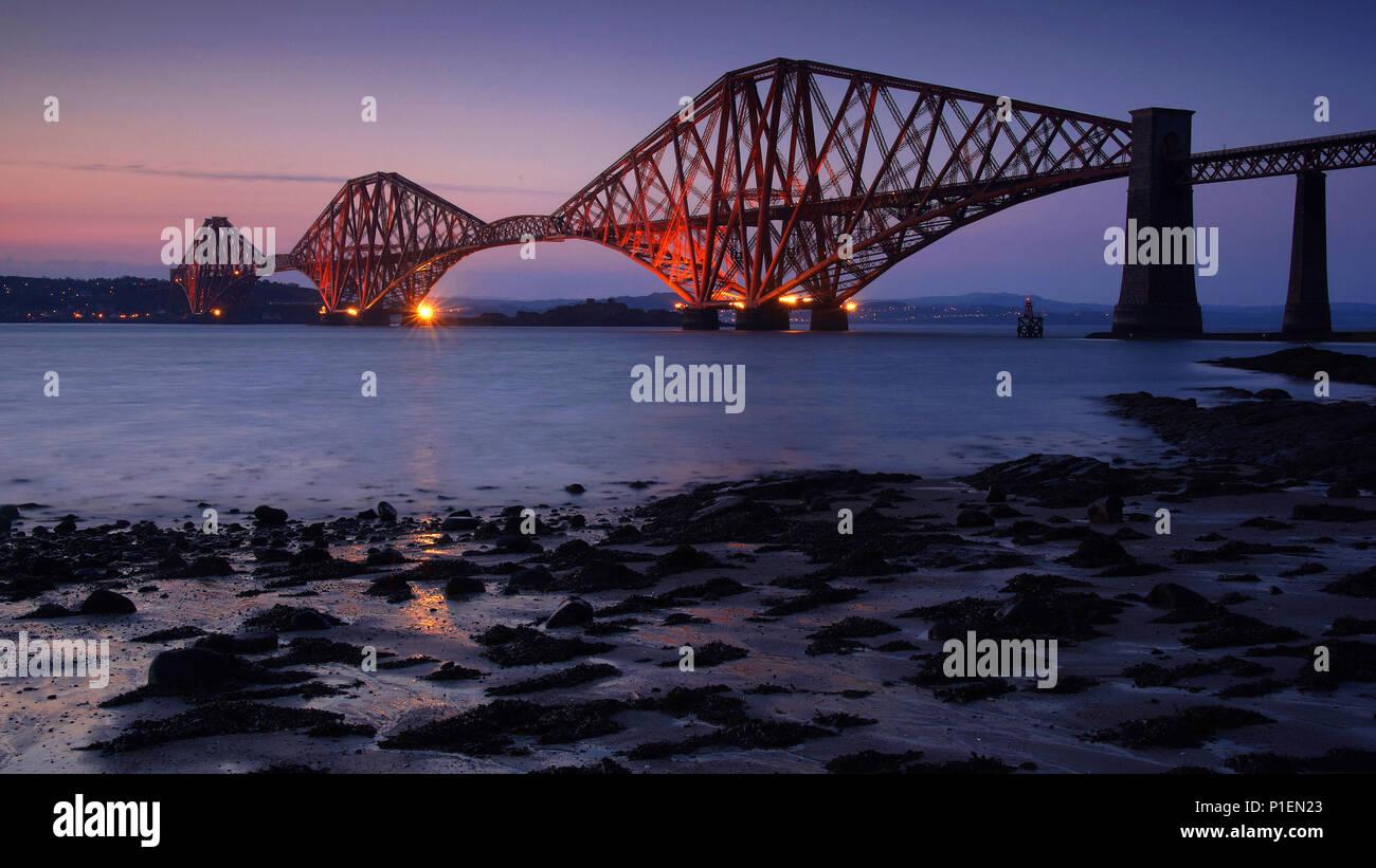 Europe, Scotland, Edinburgh, bridge, Firth of Forth Bridge,                               , Europa, Schottland, Edinburg, Bruecke, - Stock Image