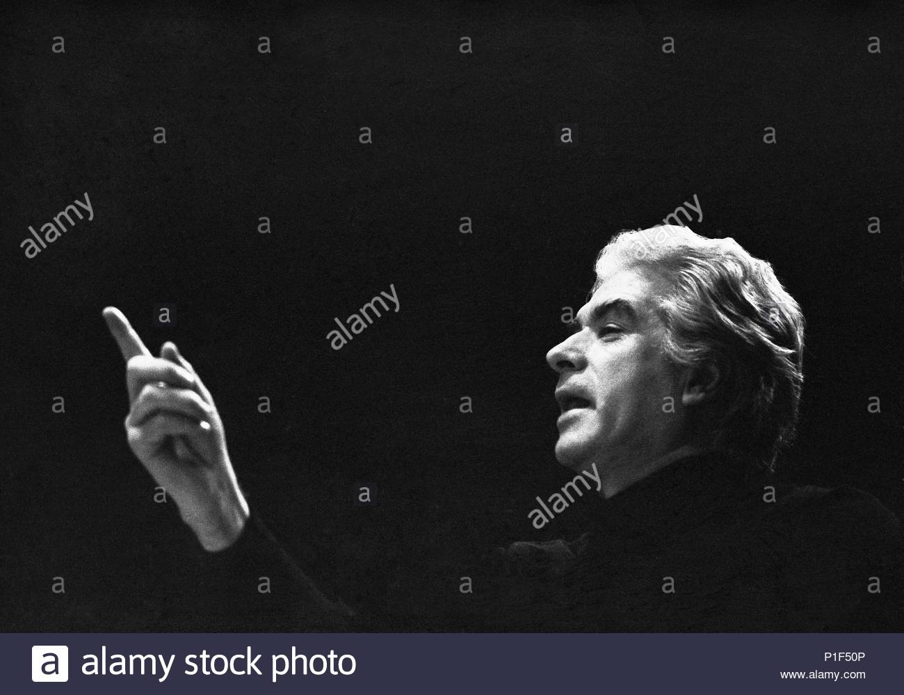 """The Paris Opera in the Palais Garnier reopened in 1973 under its new director Rolf Liebermann. Giorgio Strehler directed the premiere of Mozart's """" Marriage of Figaro"""". Paris Opera,1973. Location: Operahouse Palais Garnier, Paris, France. - Stock Image"""