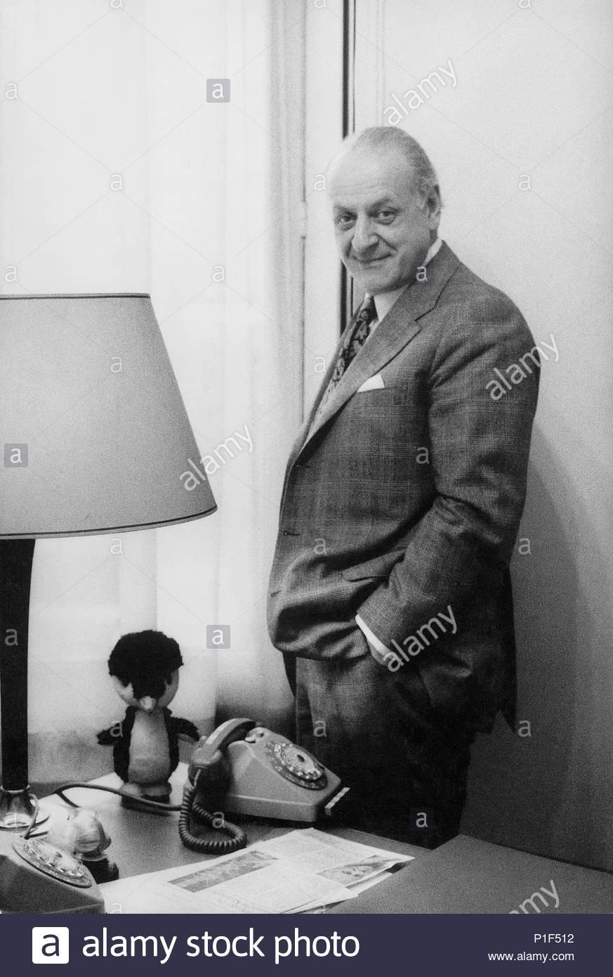 Composer Rolf Liebermann,new director of the Paris Opera(Palais Garnier).Paris Opera, 1973. Location: Opera House Palais Garnier, Paris, France. - Stock Image
