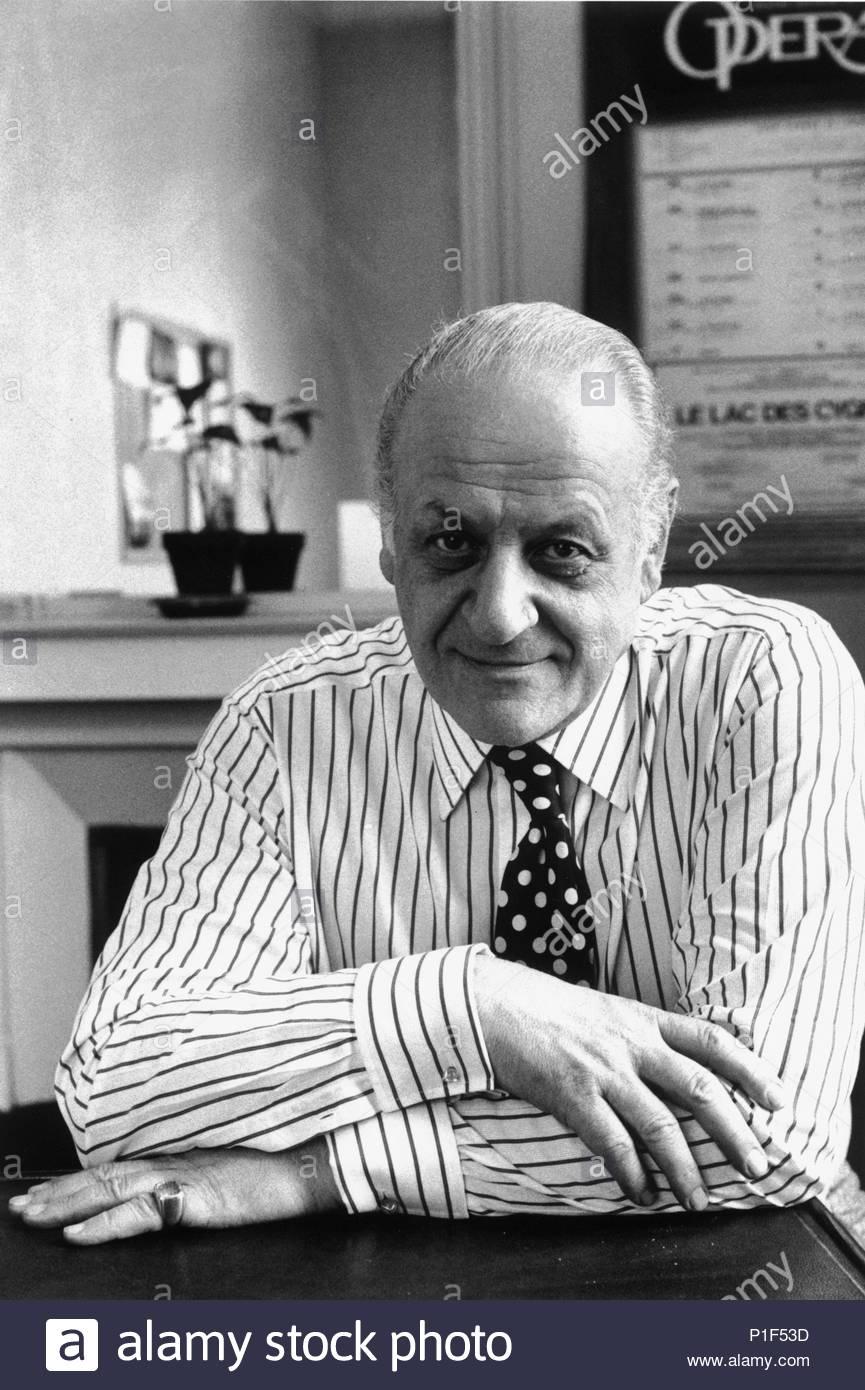 Composer Rolf Liebermann,director of the Paris Opera, 1973. Location: Opera House Palais Garnier, Paris, France. - Stock Image