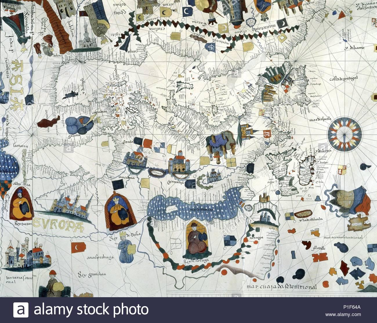 Europe From A World Map By Juan De La Cosa Juan De La Cosa 1460