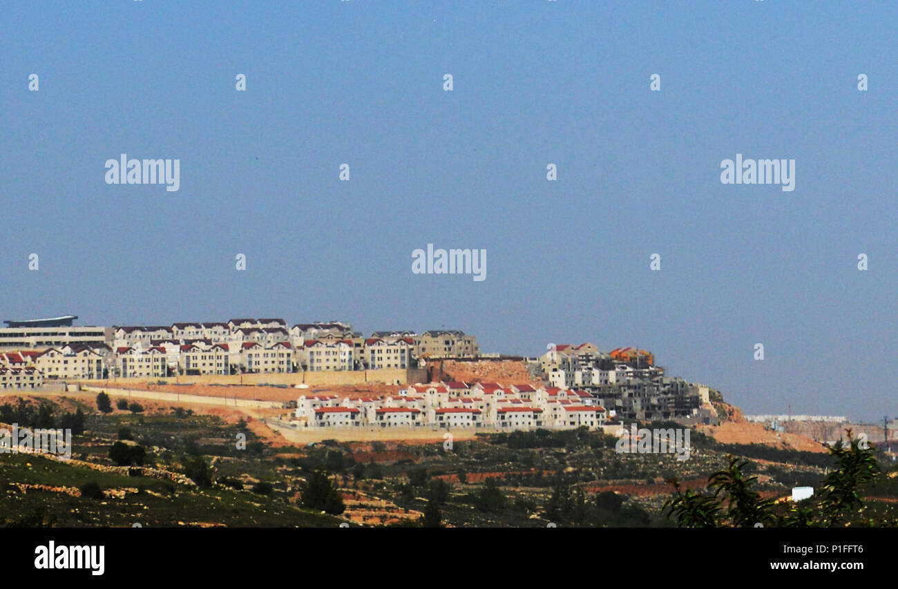 New Jewish settlements in the West Bank, South of Jerusalem. - Stock Image