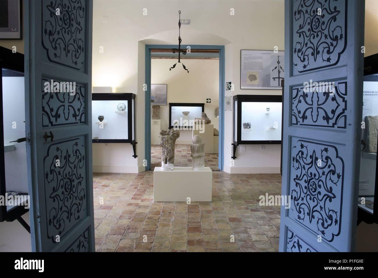 SPAIN - Cuenca de Mula (district) - MURCIA. Cehegín; Museo de Arqueología; sala ibéro - árabe en interior del Palacio de los Fajardo (siglo XVIII). - Stock Image