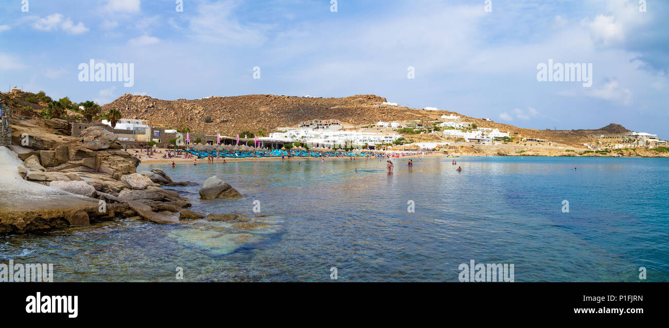 Best Island Beaches For Partying Mykonos St Barts: Mykonos And Party Stock Photos & Mykonos And Party Stock