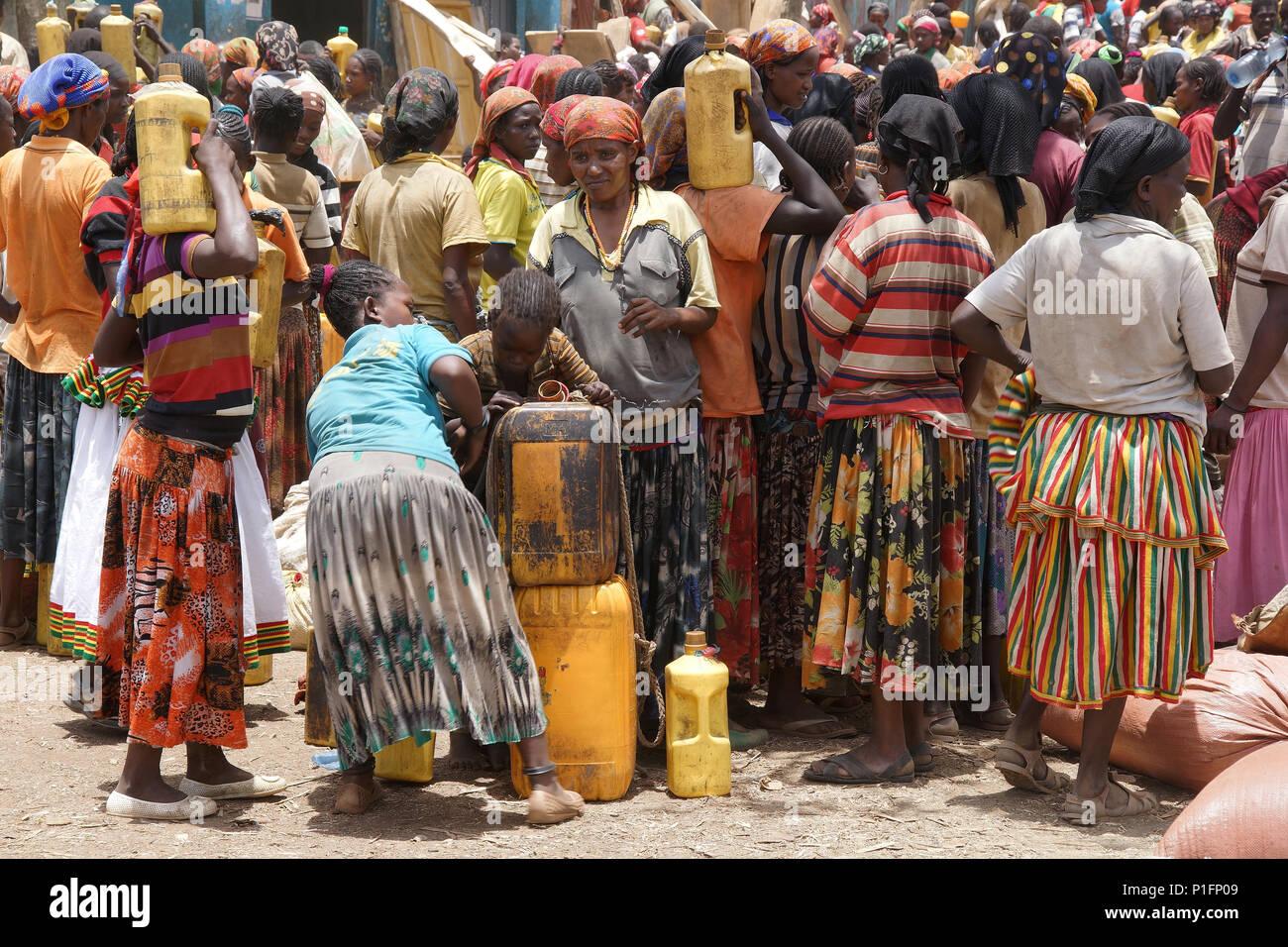 Africa, Ethiopia, konzo market, Afrika, Aethiopien, Konzo Markt - Stock Image