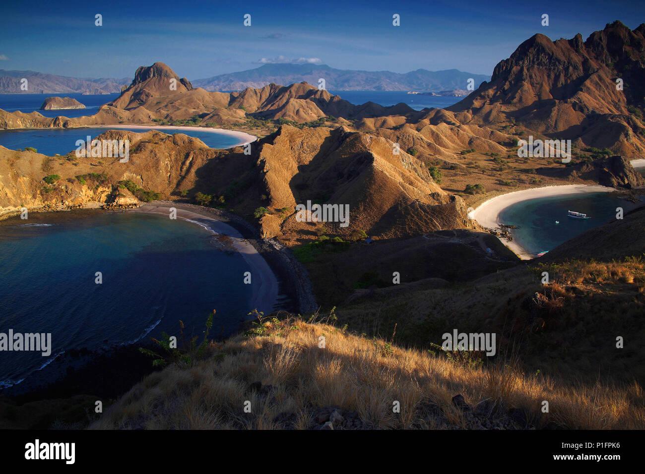 Asia, Indonesia, Padar Island, Padar Island,, Asien, Indonesien, Padar Insel - Stock Image