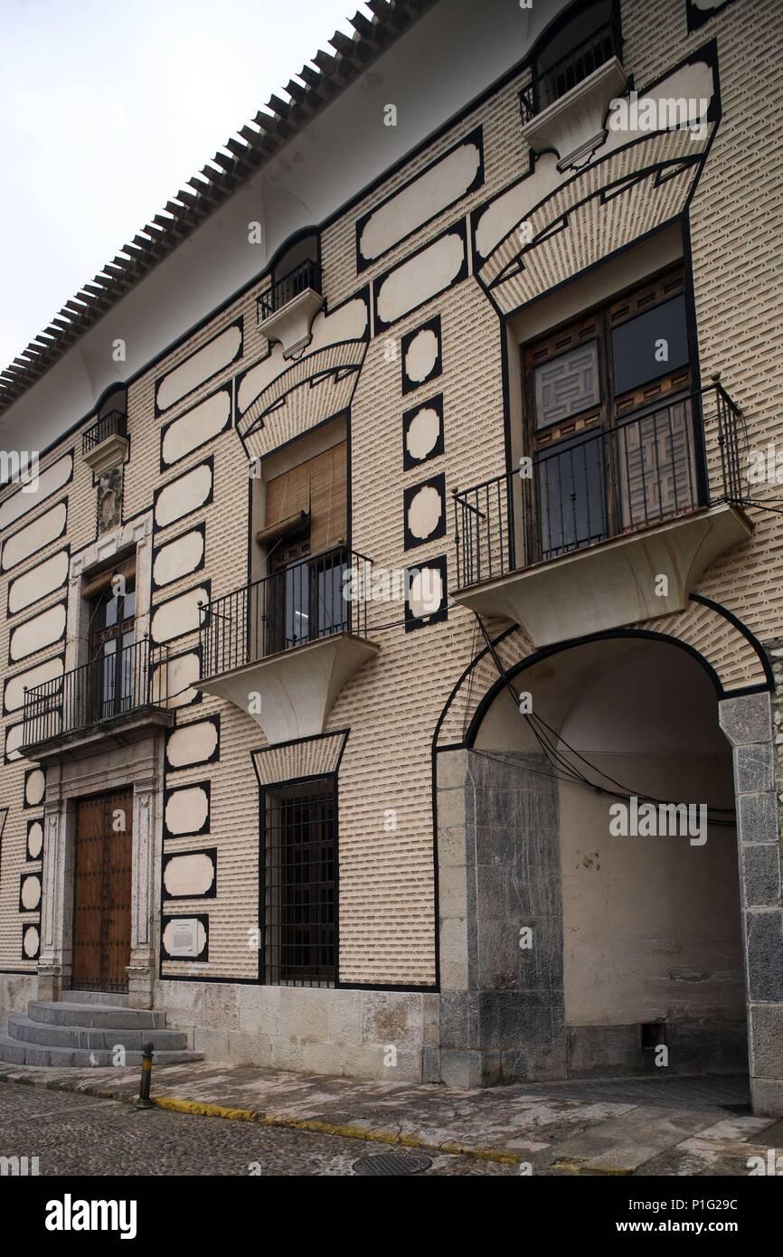 SPAIN - Cuenca de Mula (district) - MURCIA. Cehegín; fachada del Palacio de los Fajardo (siglo XVIII). - Stock Image