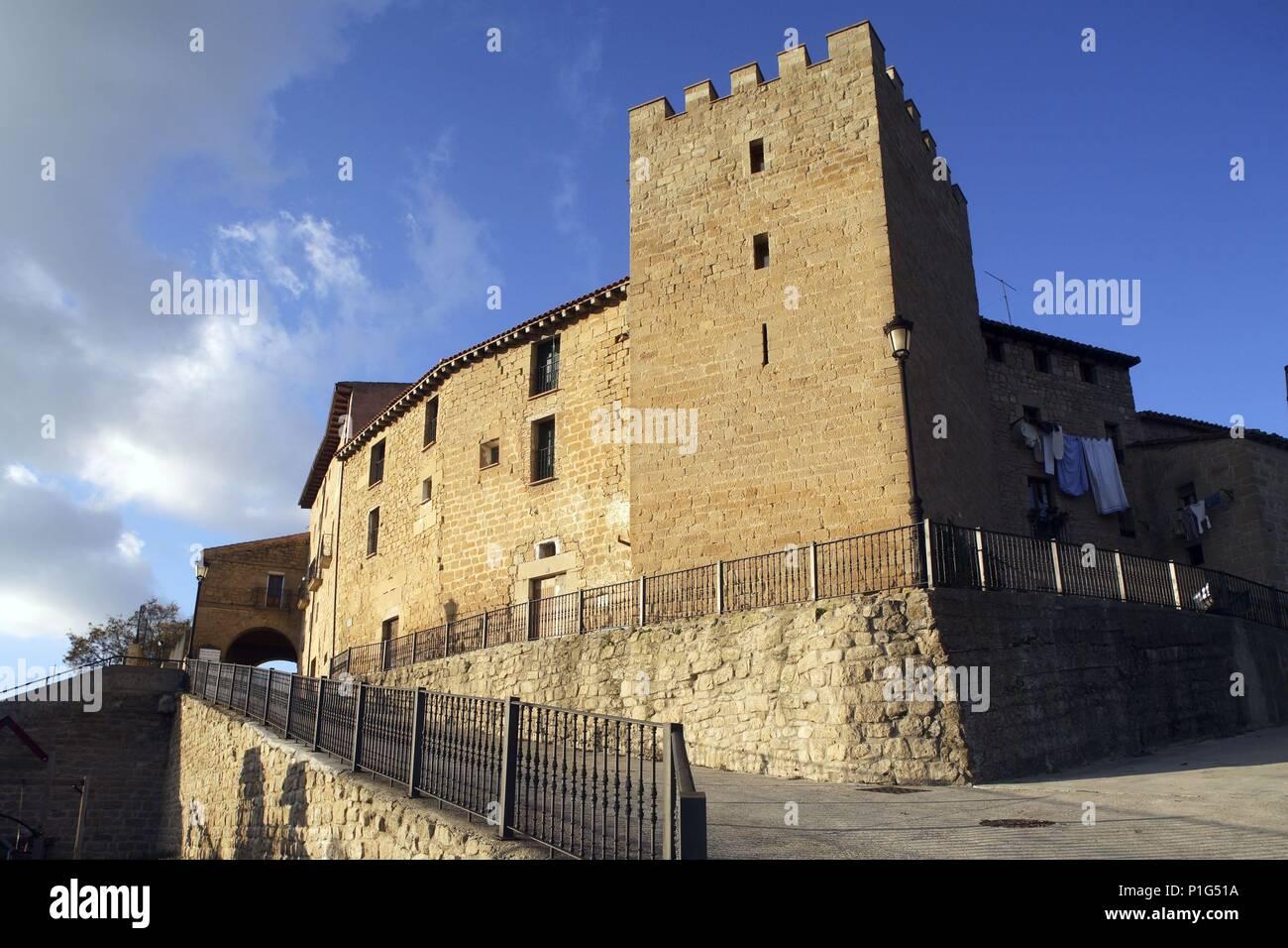 SPAIN - BASQUE COUNTRY - Rioja alavesa (district) - ALAVA. villa fortificada de Labraza. - Stock Image