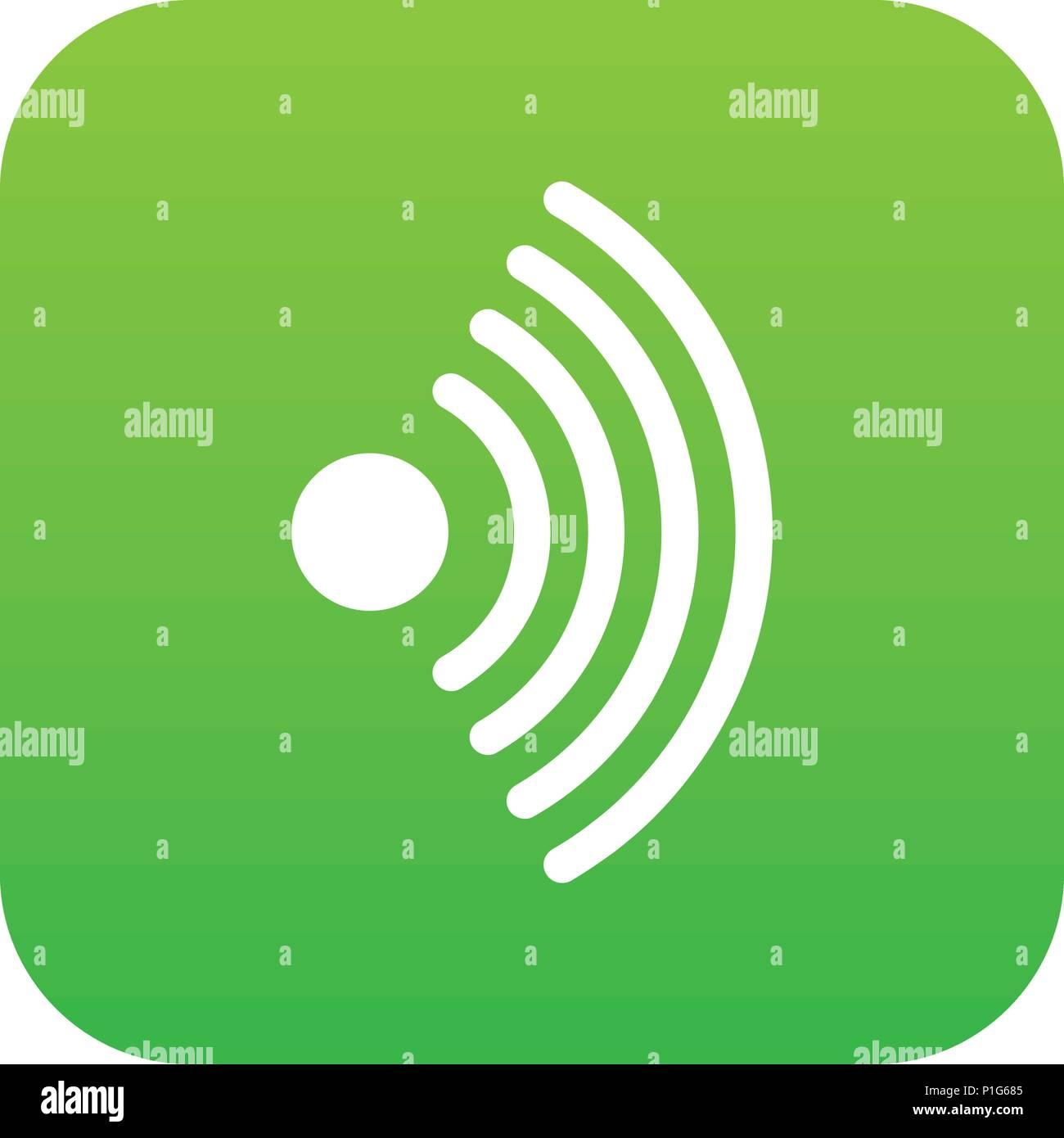 Wireless Network Symbol Icon Digital Green Stock Vector Art