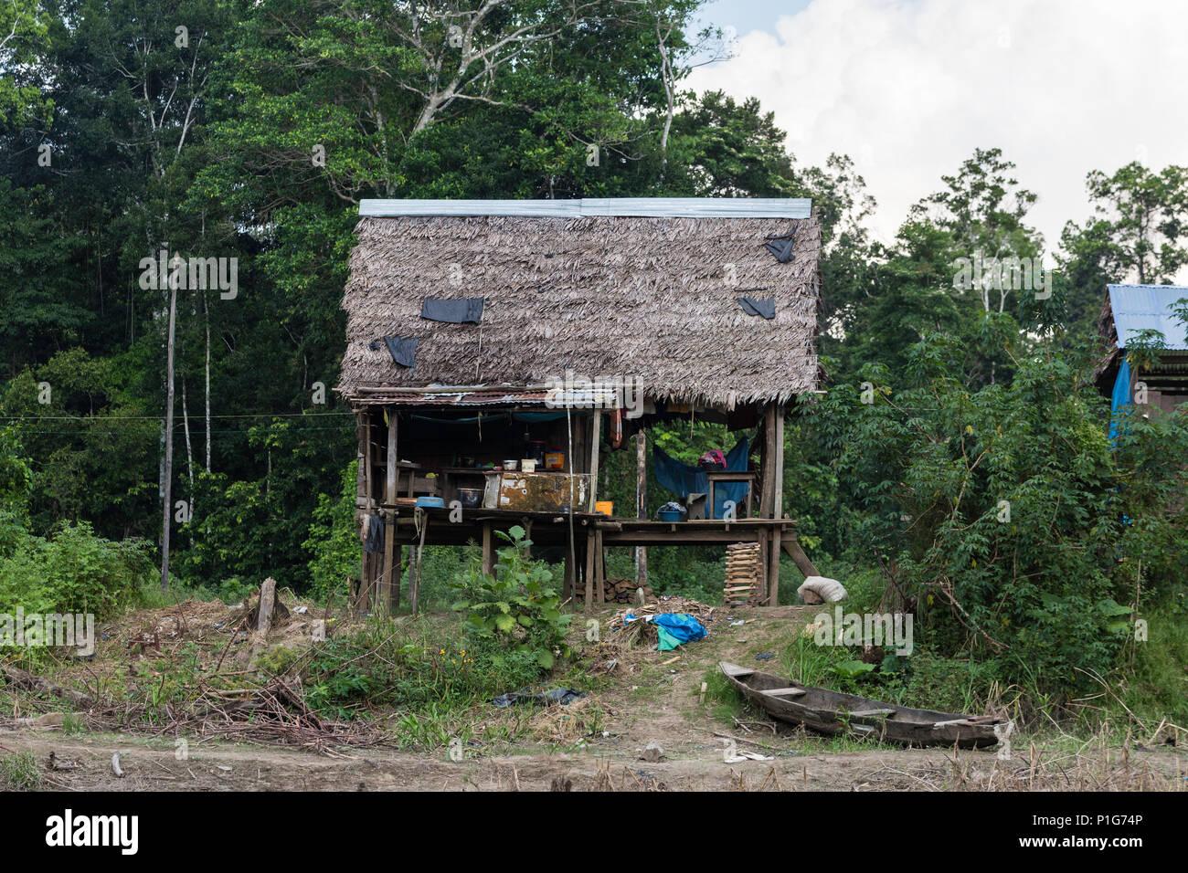 El Dorado Caño, Upper Amazon River Basin, Loreto, Peru. Copyright 2016 Michael S. Nolan. All rights reserved worldwide. - Stock Image