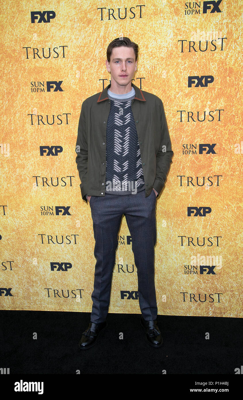 """Celebrities attend FYC Red Carpet Event for """"Trust,' at the Saban Media Center at the Television Academy.  Featuring: Harris Dickinson Where: Los Angeles, California, United States When: 11 May 2018 Credit: Brian To/WENN.com - Stock Image"""