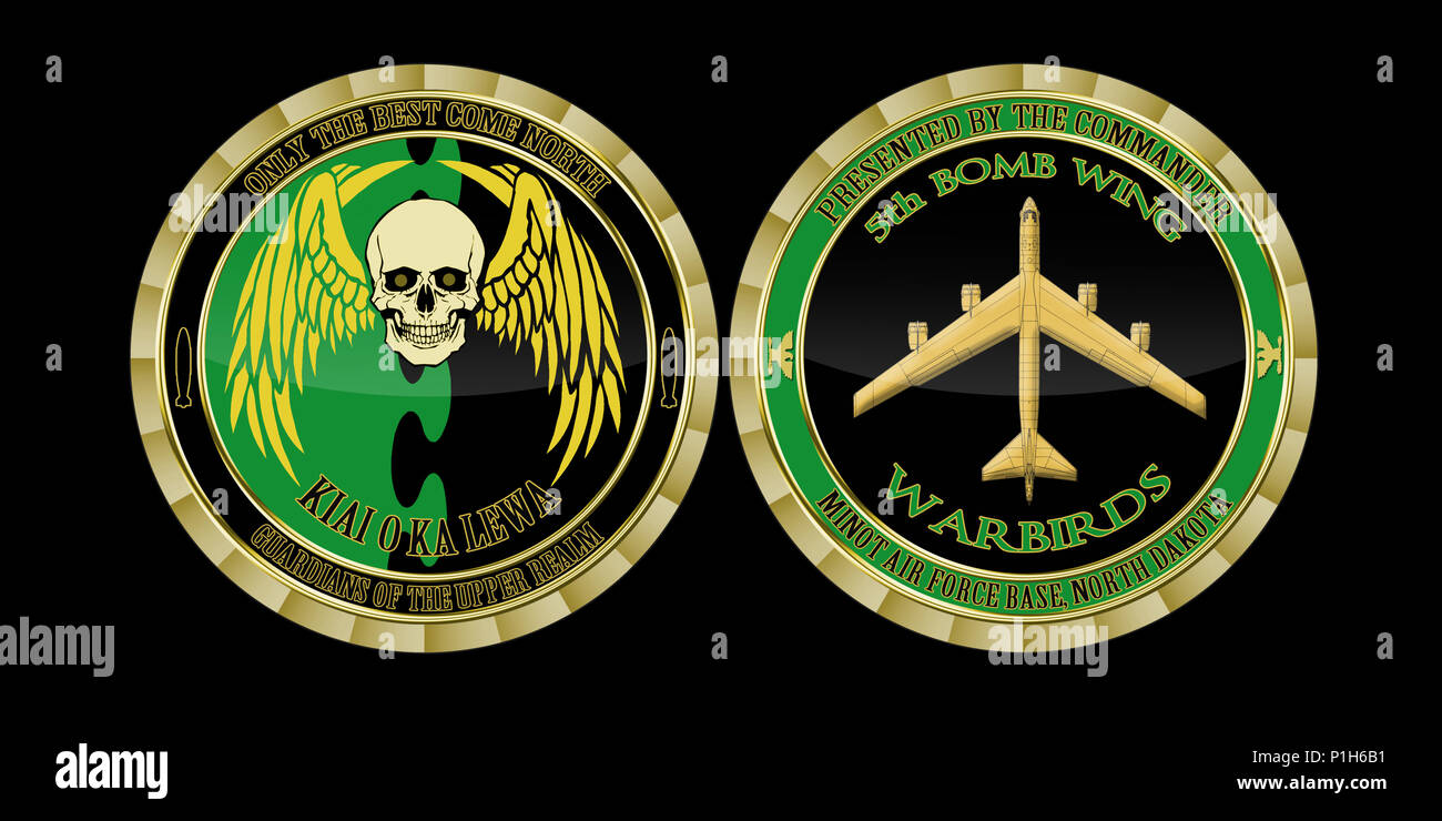 5th Bomb Wing commander's challenge coin  (U S  Air Force