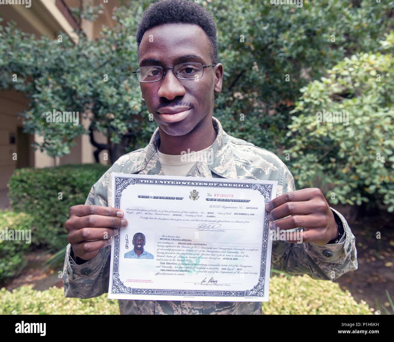 Certificate Of U S Citizenship Stock Photos Certificate Of U S