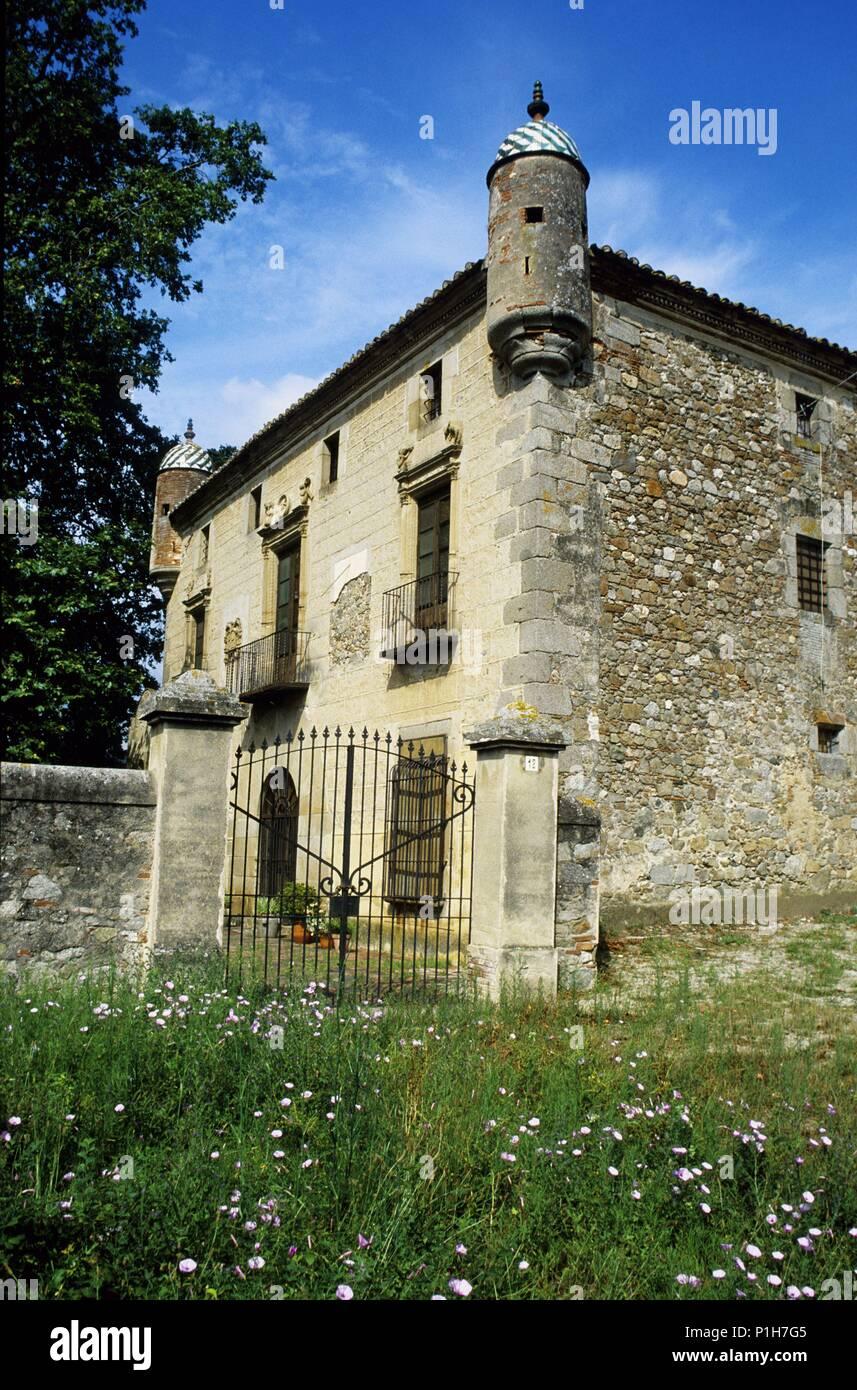 SPAIN - Catalonia - Maresme (district) - Barcelona. Argentona, Masía fortificada 'Can Cabanyes'. - Stock Image
