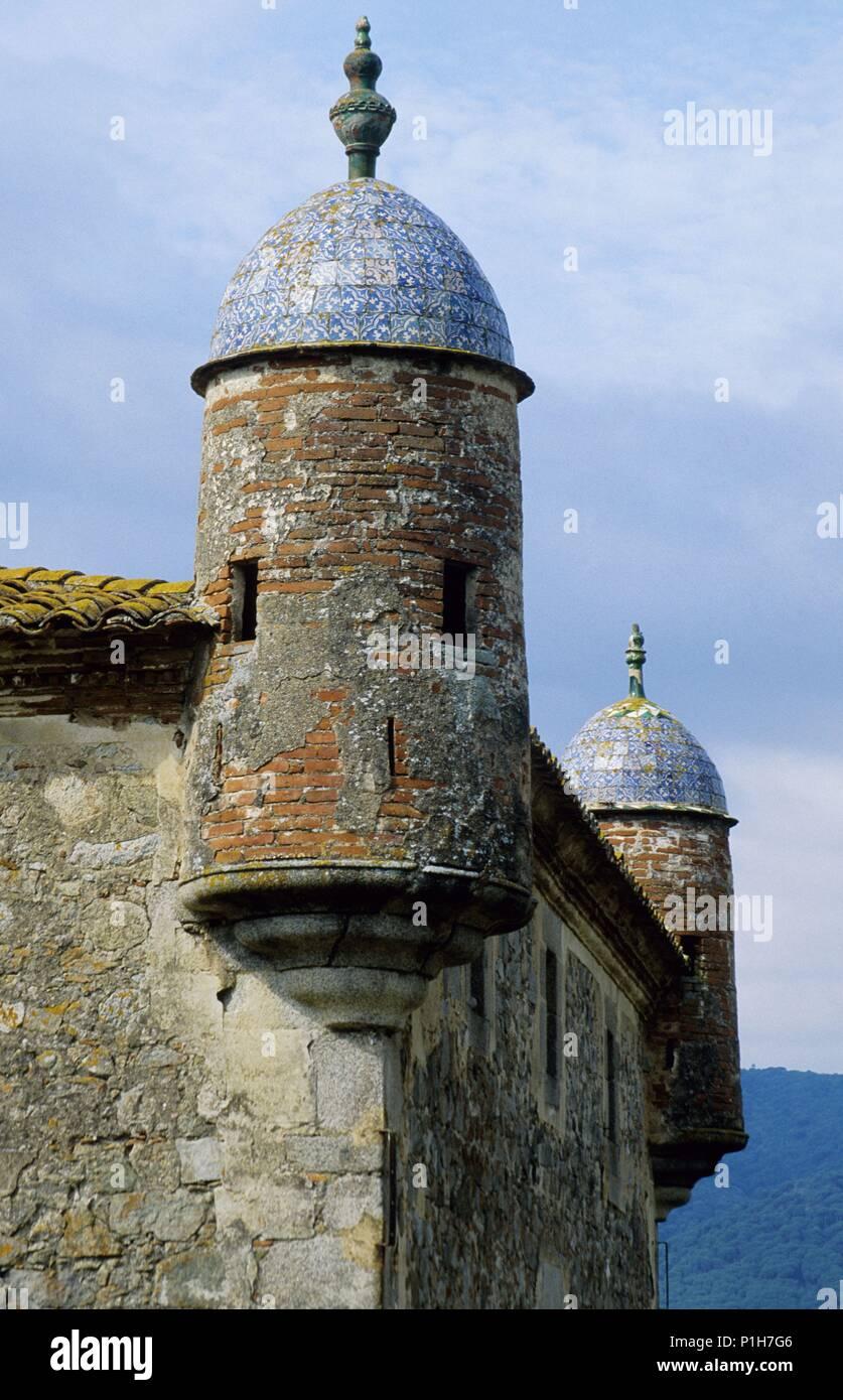 SPAIN - Catalonia - Maresme (district) - Barcelona. Argentona, Masía fortificada 'Can Cabanyes', torre. - Stock Image