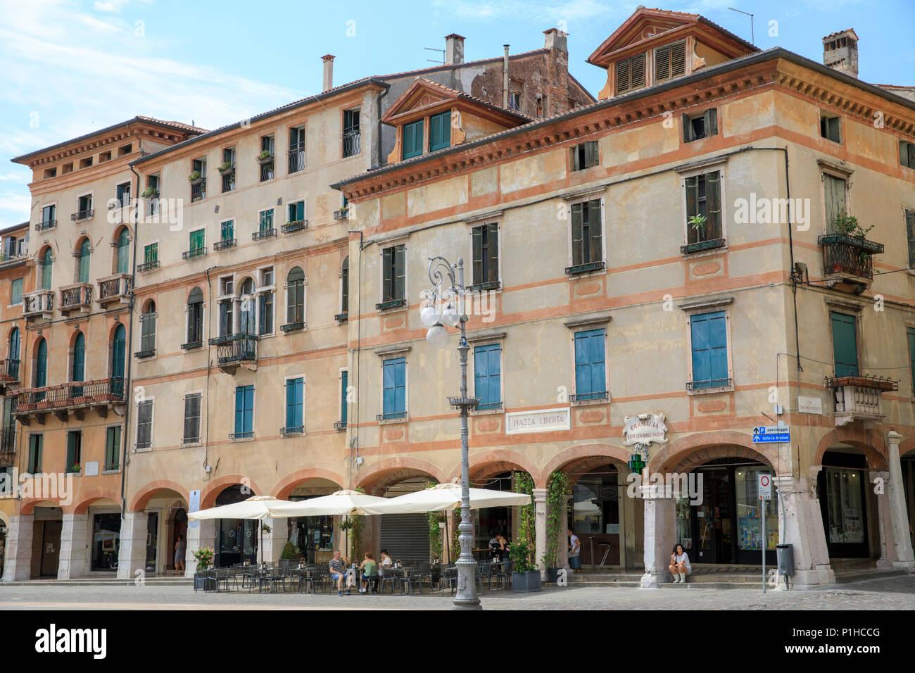 Piazza Libertà, Bassano del Grappa, Italy - Stock Image