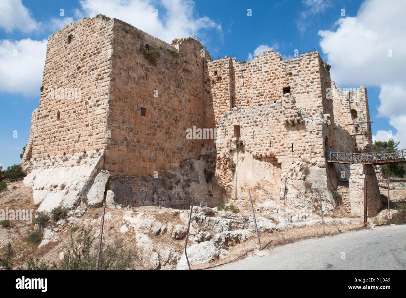 Ajloun fortress. Arab and crusaders fort. Jordan. Stock Photo