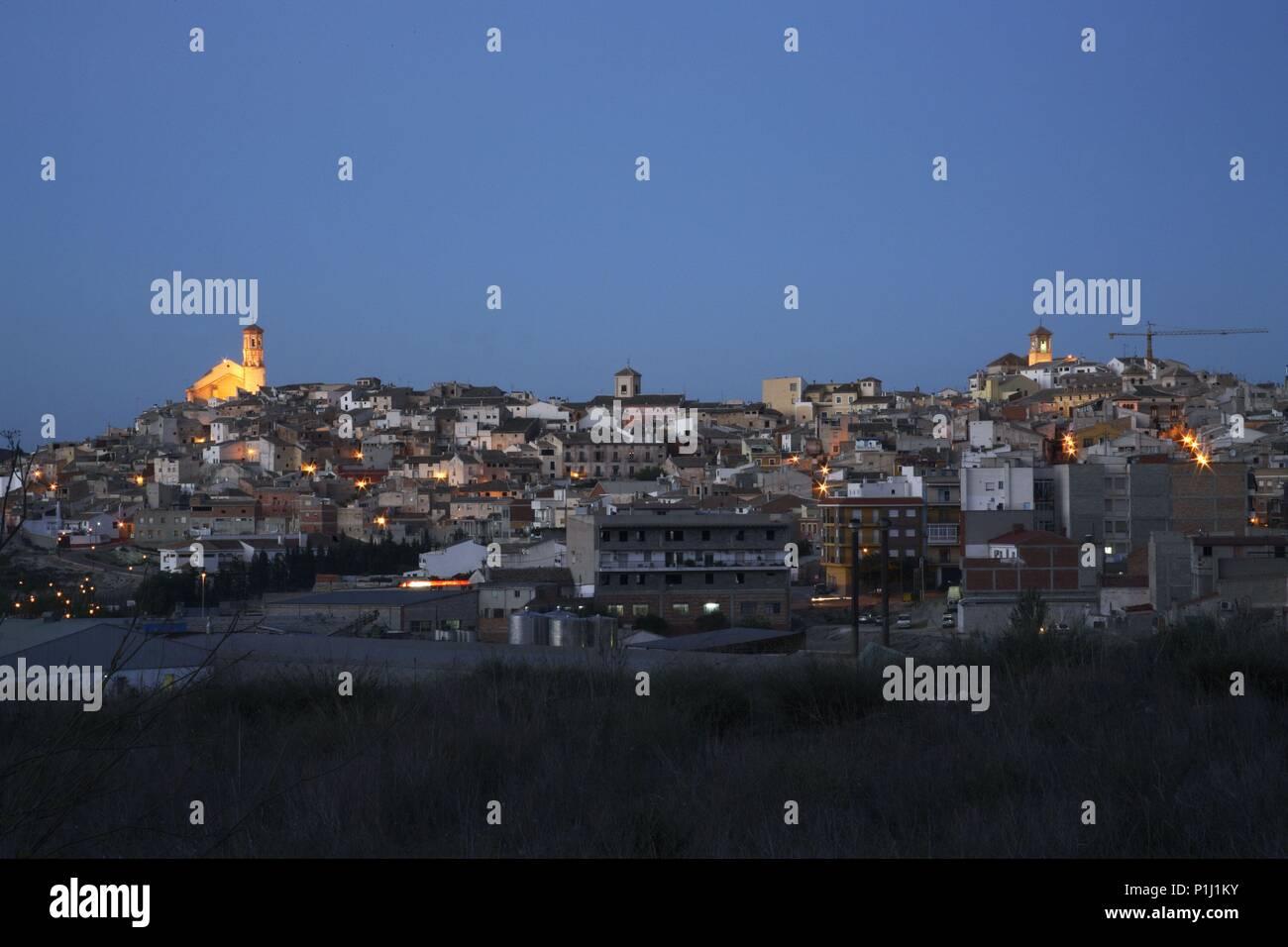 SPAIN - El Noroeste (district) - MURCIA. Cehegín; vista del pueblo. - Stock Image