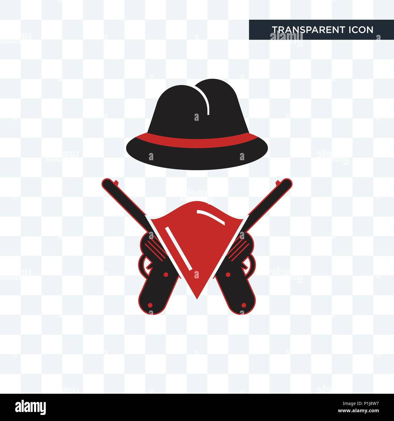 outlaws vector icon isolated on transparent background
